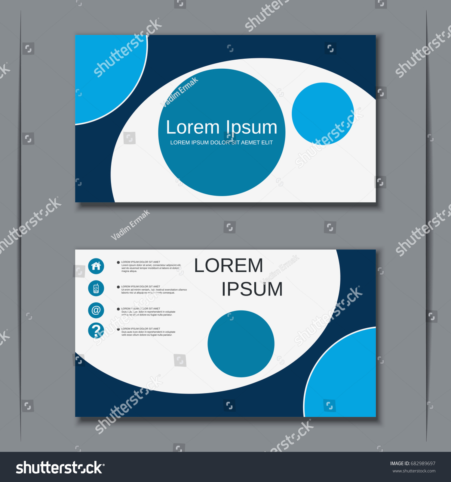 Abstract Geometric Style Modern Business Visiting Stock Vector ...