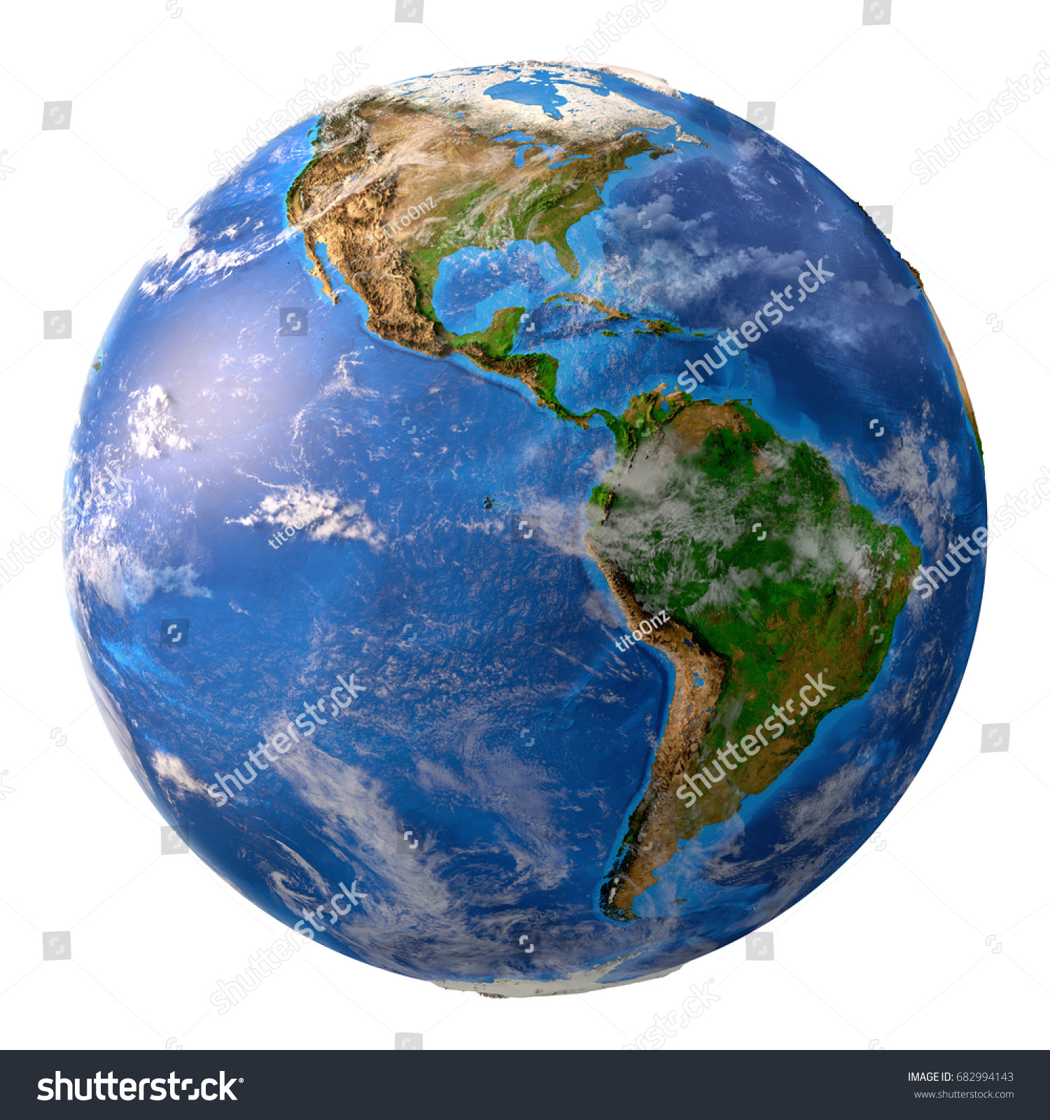Planet Earth High Detailed Satellite View Stockillustration ...