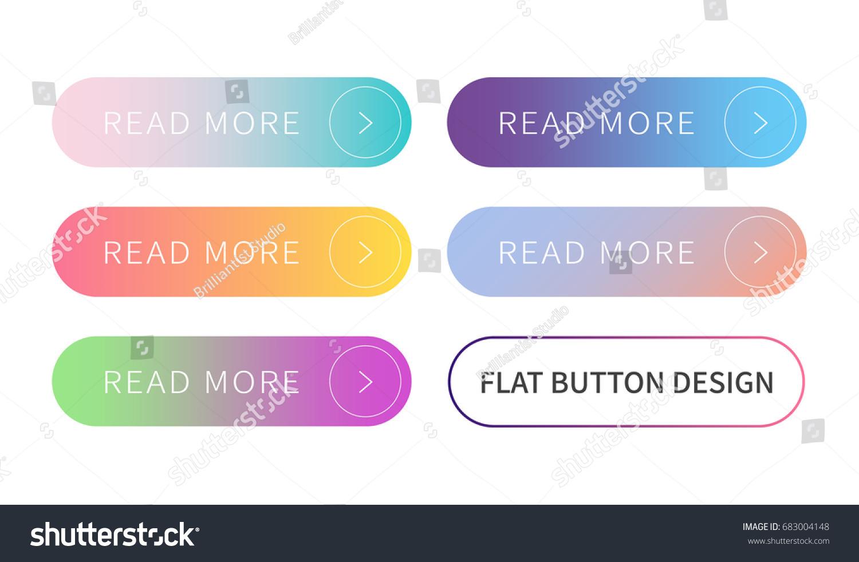 Call Action Buttons Set Flat Design Image Vectorielle De Stock