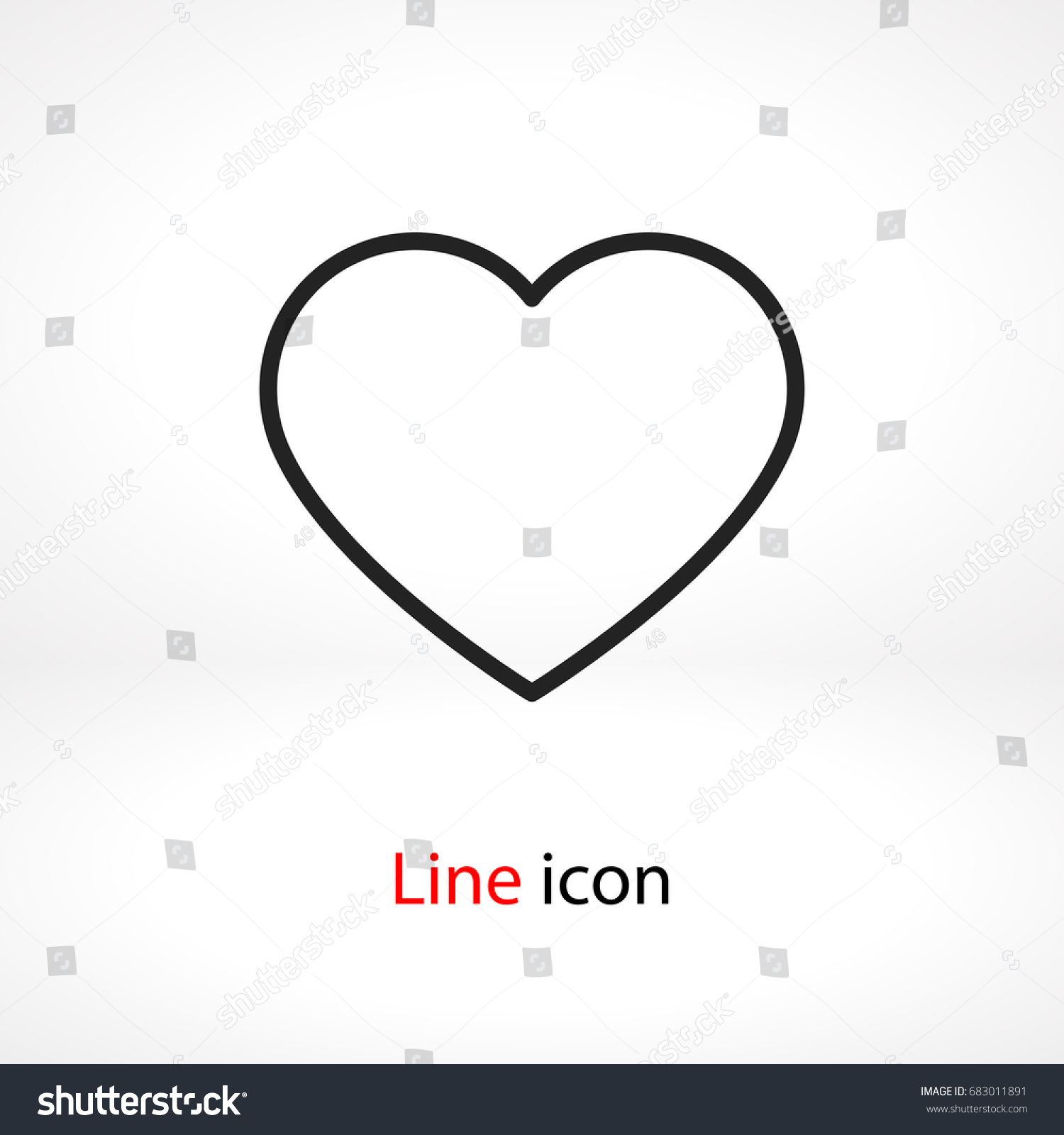 heart icon vector illustration linear symbol stock vector