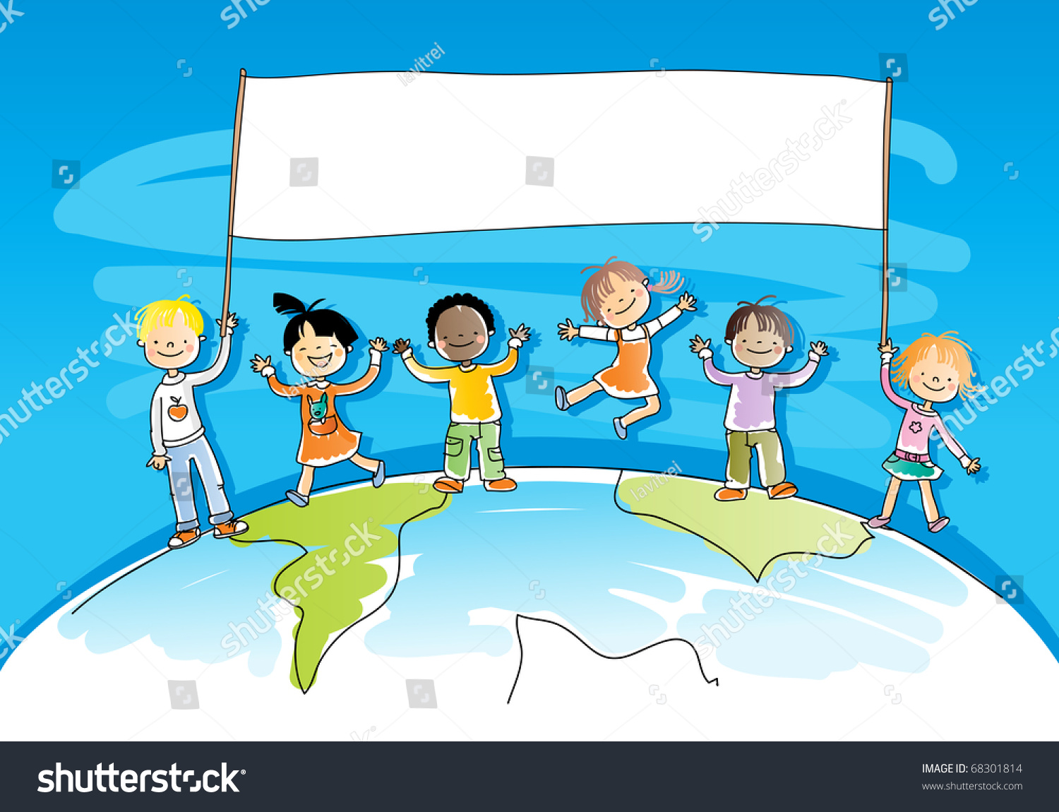 ... Dancing Clipart multicultural kids stock vectors & vector clip art