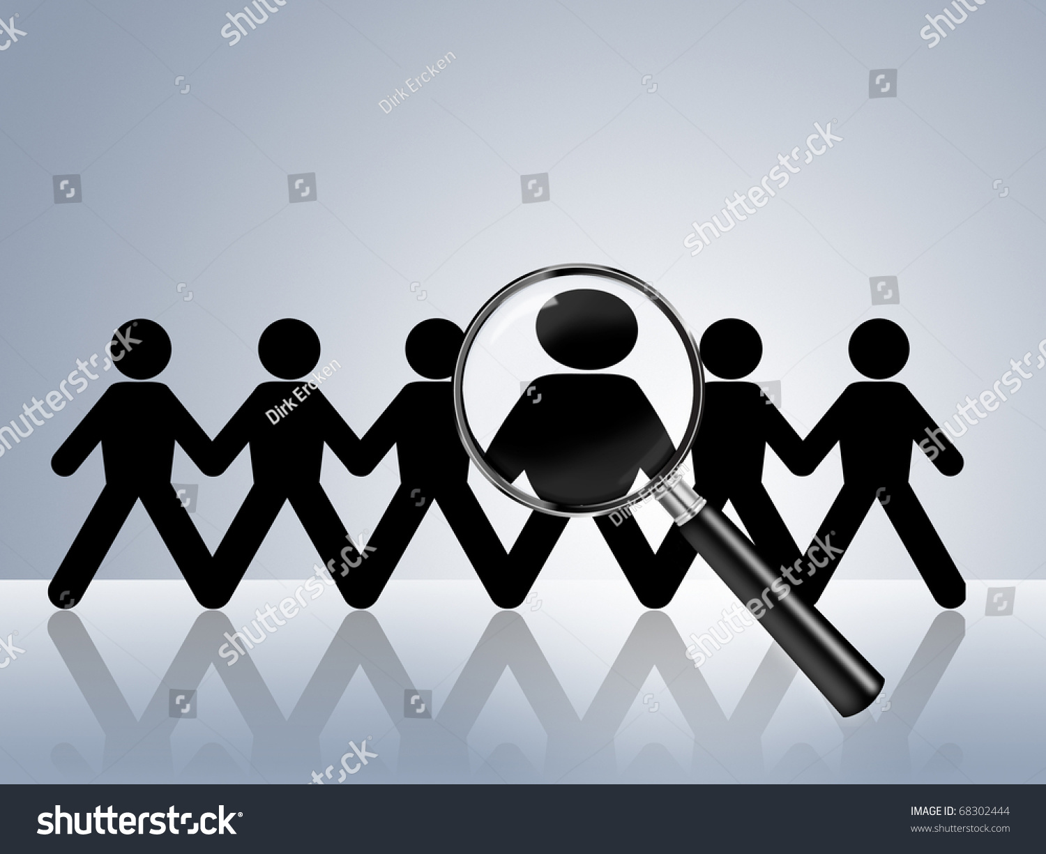 paper chain figures wanted employer job stock illustration paper chain figures wanted employer job vacancy head hunter searching job search help wanted job ad