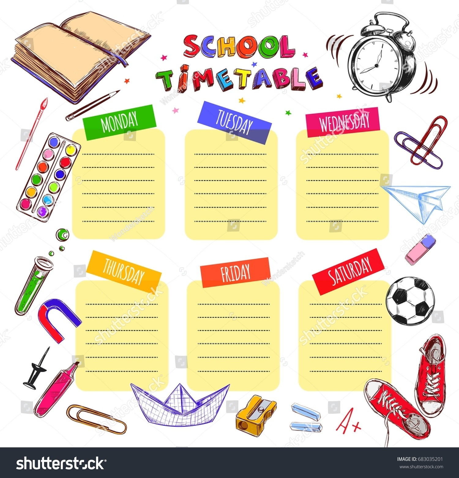 Template School Timetable Students Pupils sample resume for educators – Timetable Template School