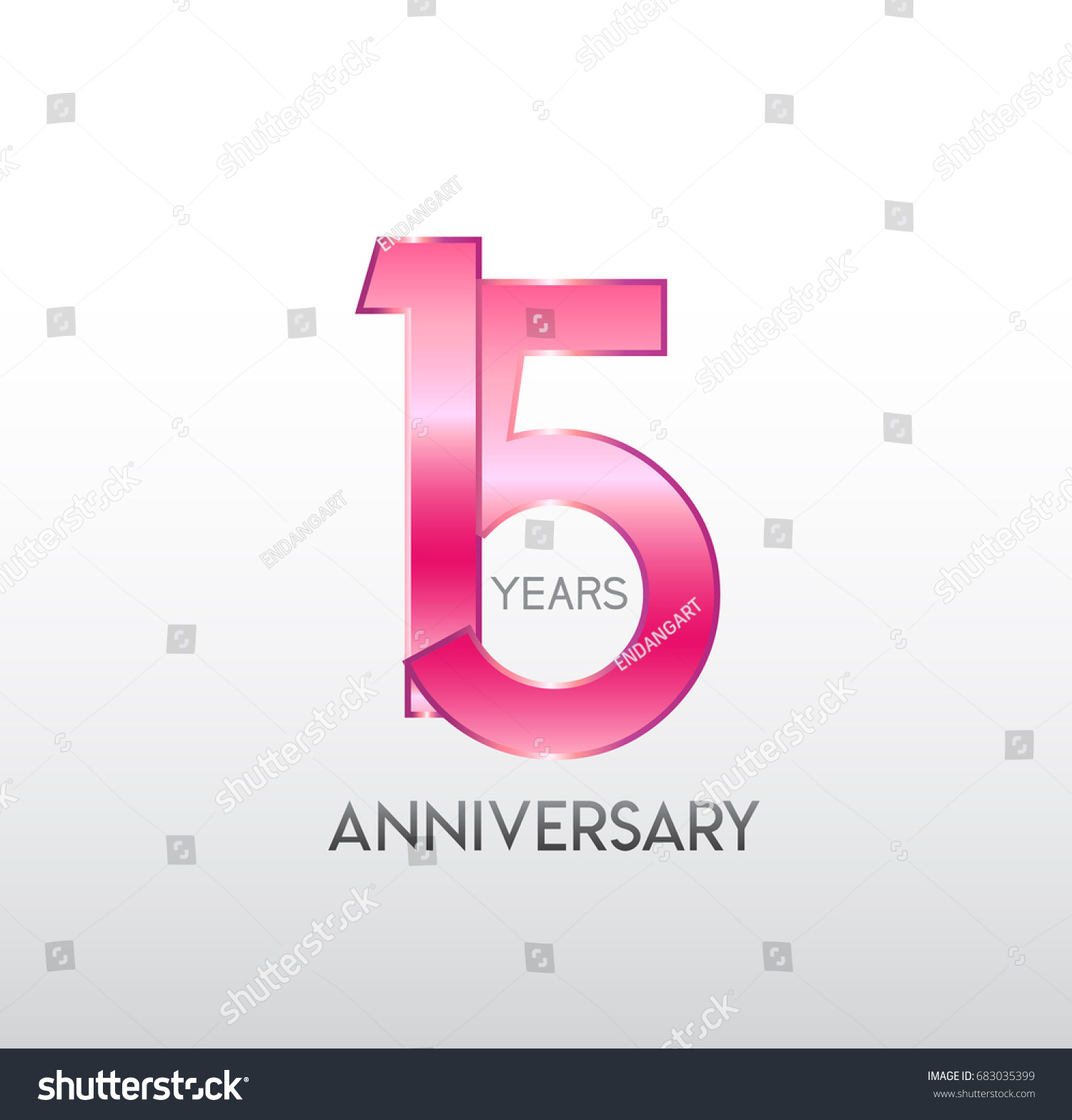 15 years pink anniversary overlapping number stock vector 15 years pink anniversary with overlapping number for business corporate wedding biocorpaavc