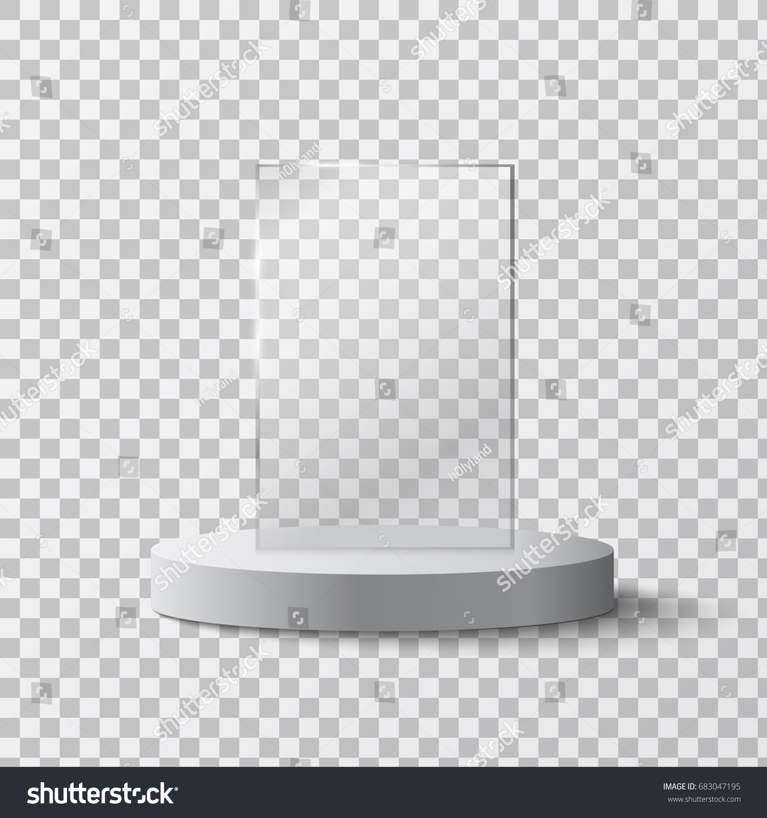 empty glass award isolated trophy template stock vector royalty