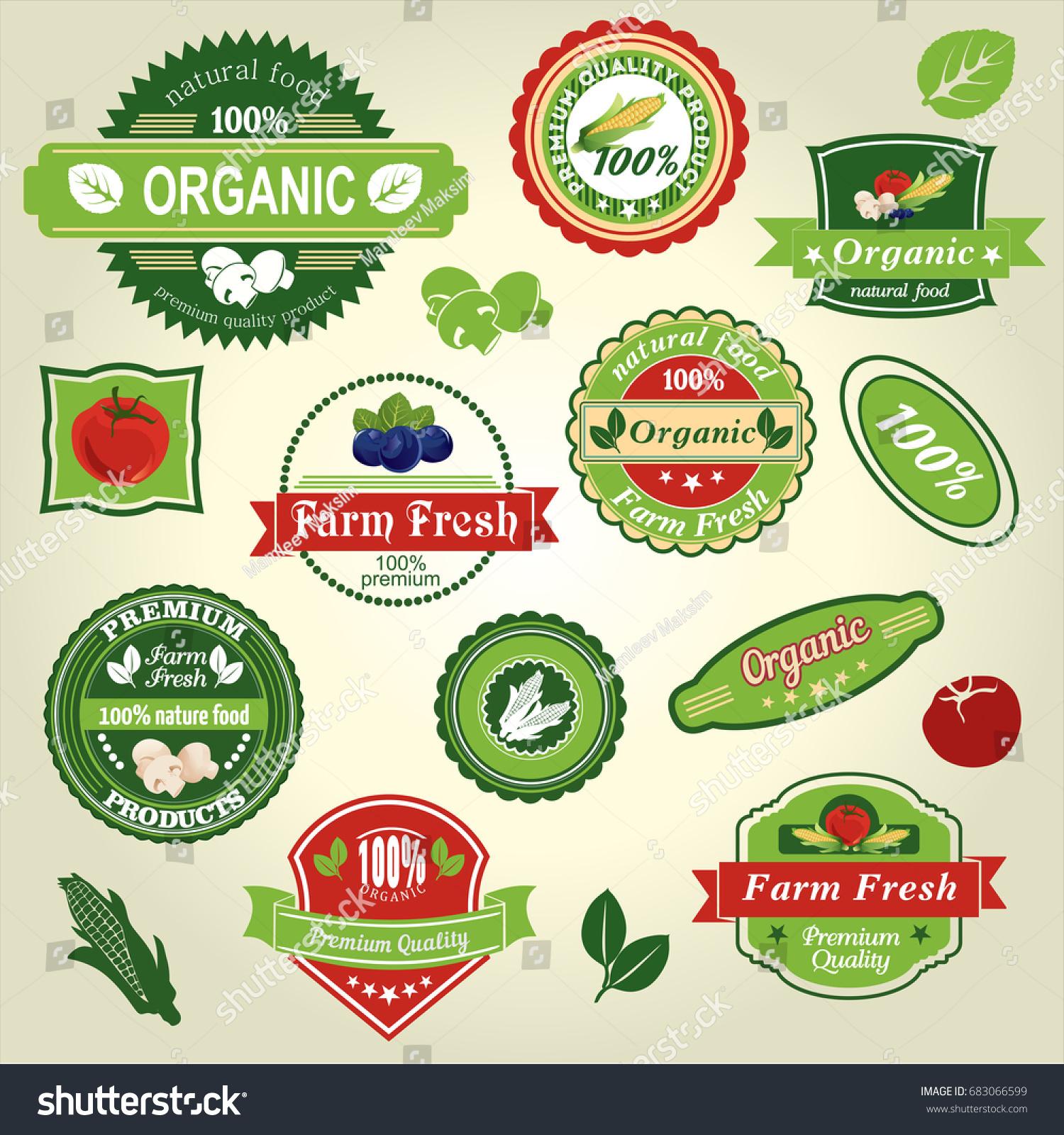 Organic food farm fresh natural product stock vector royalty free