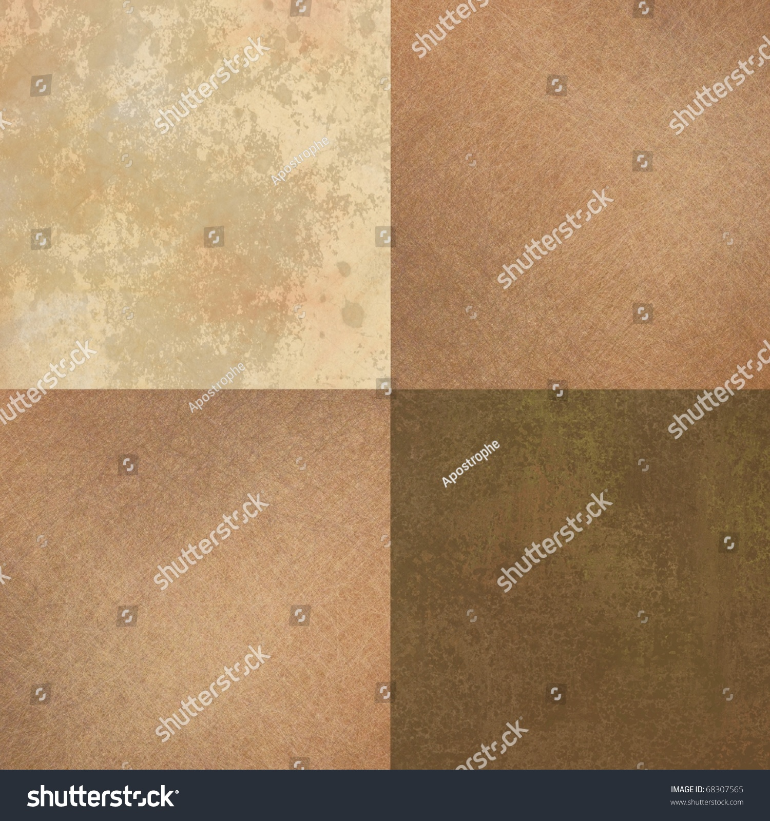 Deco Chambre Quebec : soft warm earth tones of brown, taupe, and beige in block tile
