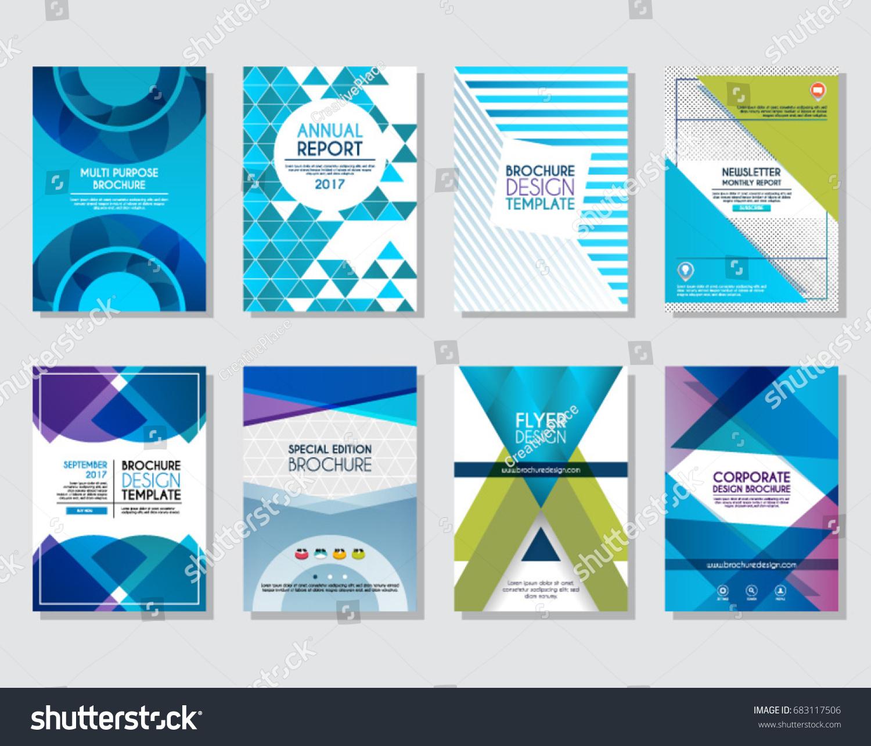 Set Brochure Design Annual Report Flyer Stock Vector (Royalty Free ...