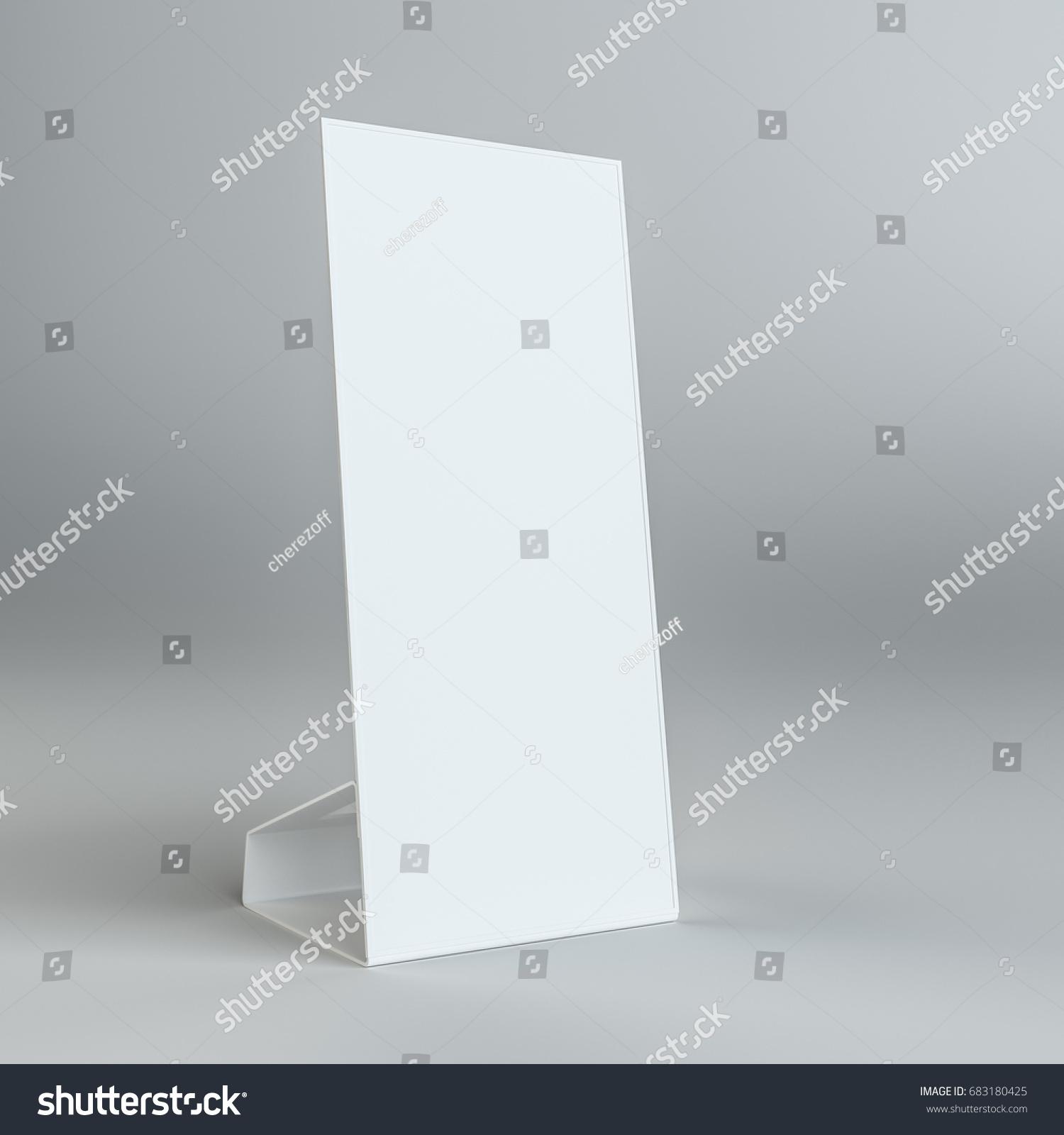Blank Paper Table Card On On Stock Illustration 683180425 - Shutterstock