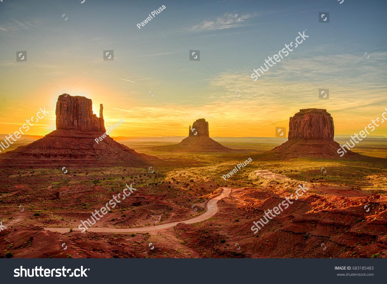 Sunrise view at Monument Valley, Arizona, USA #683185483
