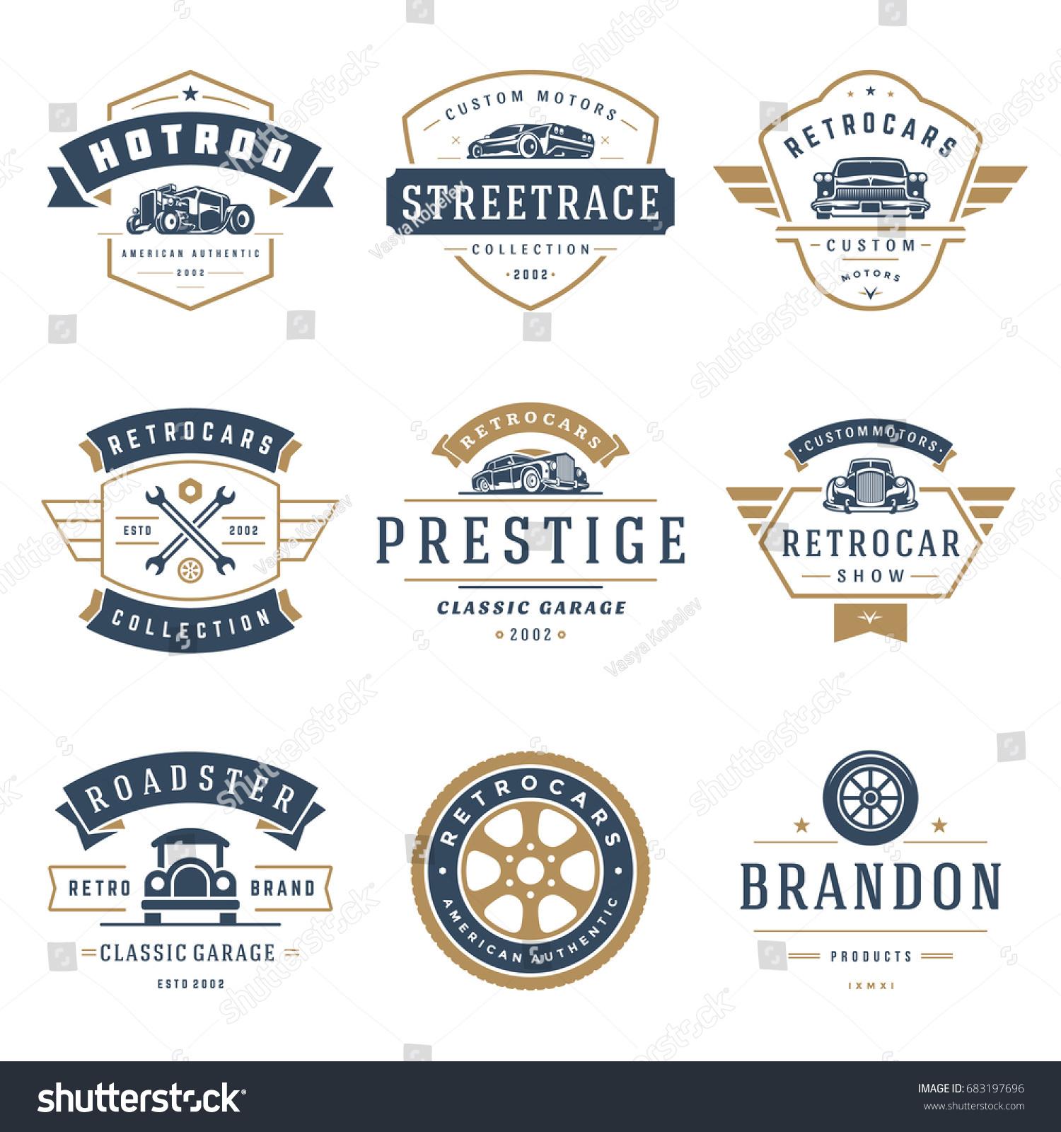 Car Logos Templates Vector Design Elements Stock Vector