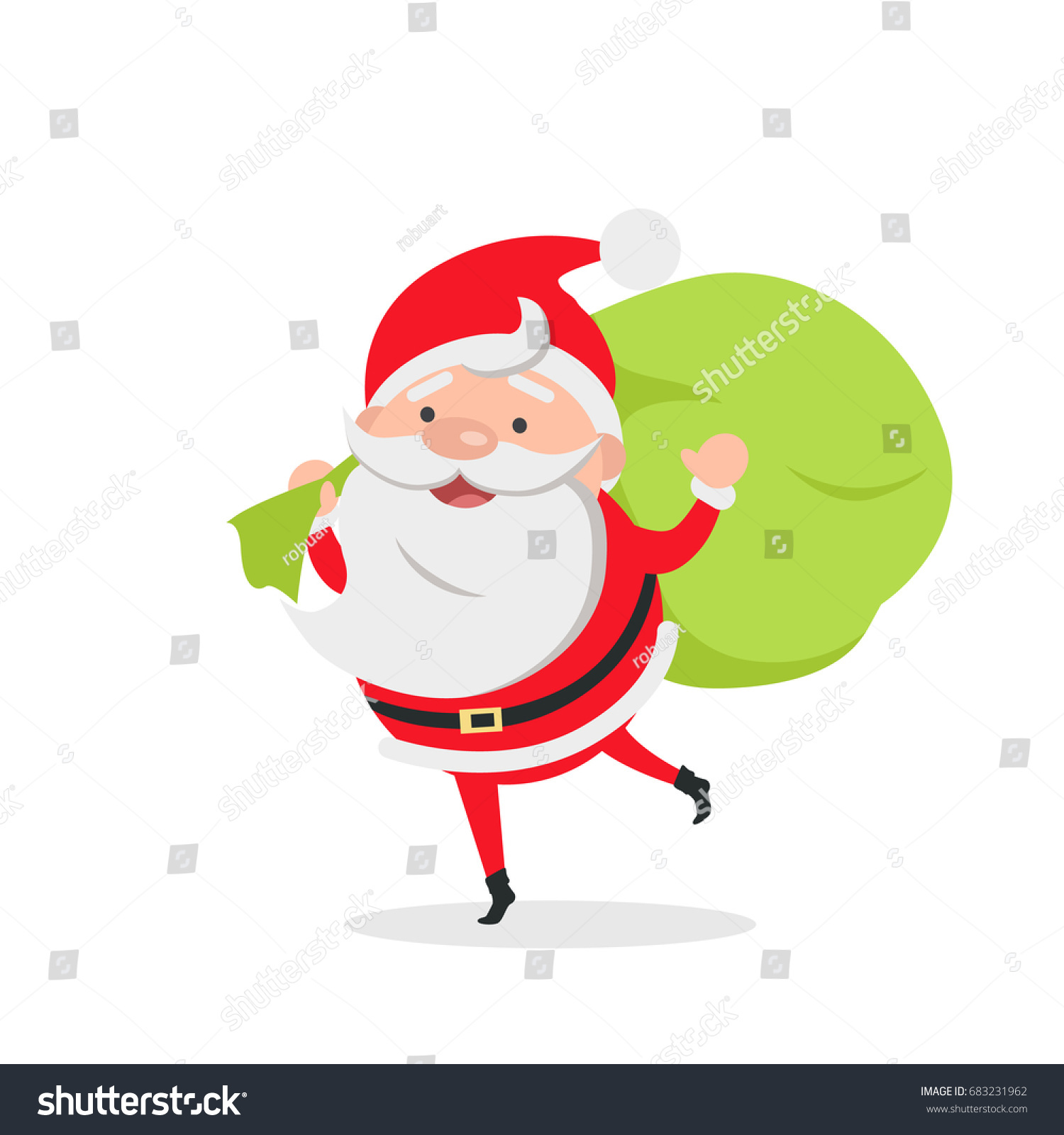 Gift Delivery Santa Claus Delivers Gifts Stock Illustration ...