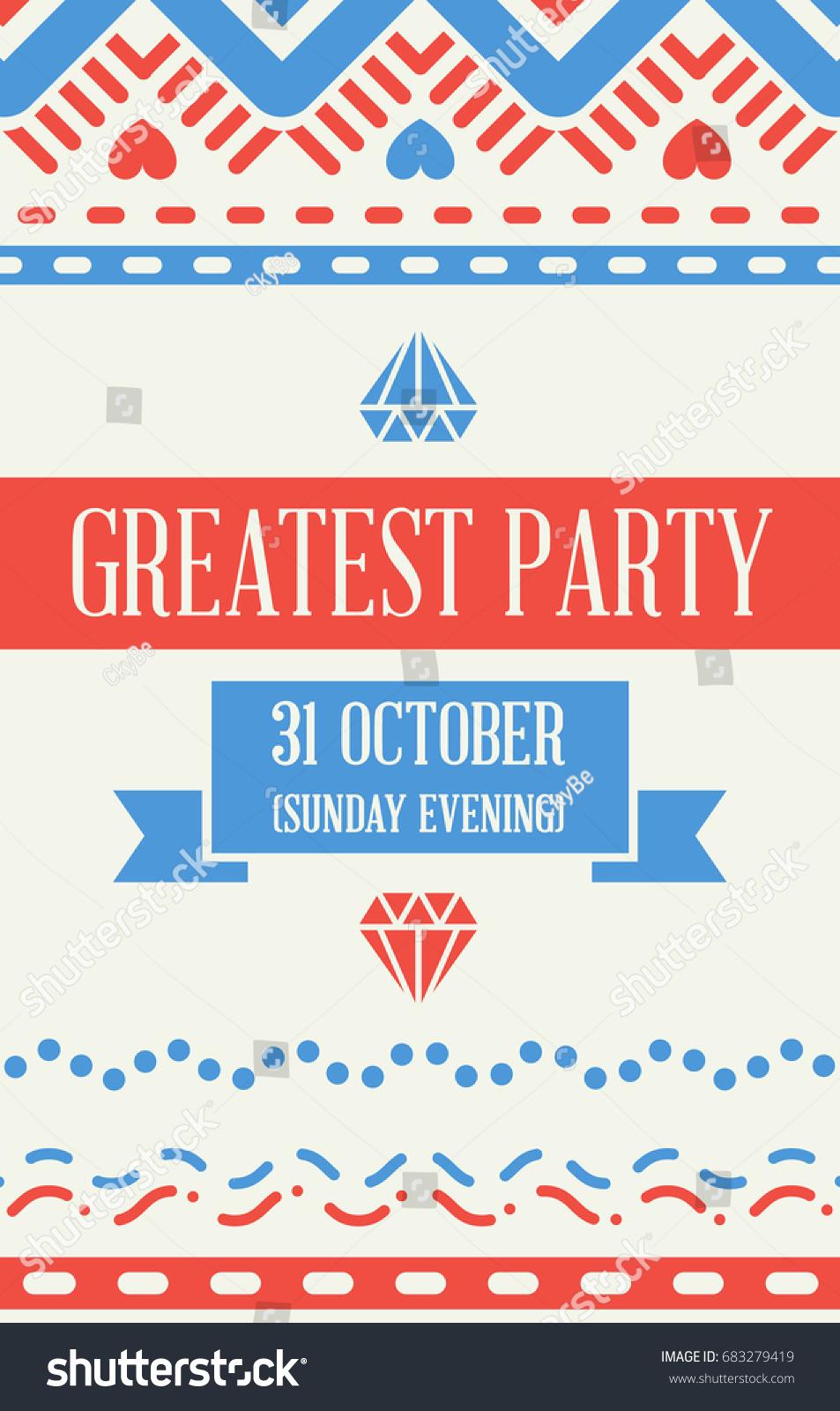 Raster Design Awesome Wedding Invitation Template Stock Illustration ...