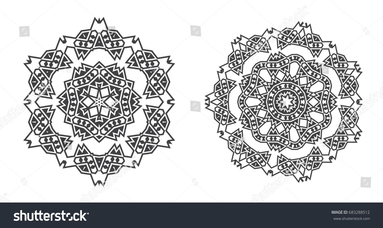 Israel Jew Ethnic Fractal Mandala Raster Stock Illustration ...