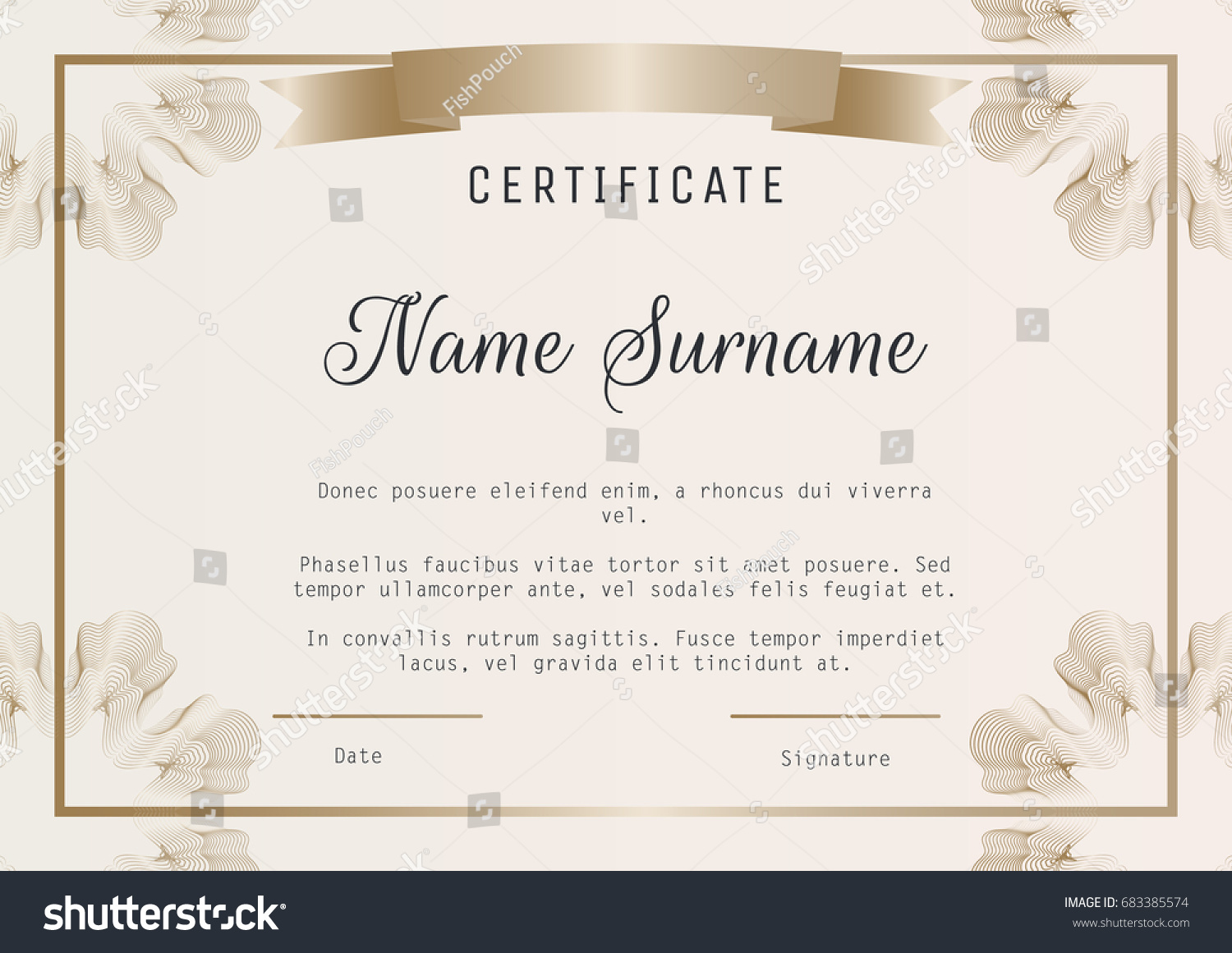 Silver certificate diploma template award patter certificate certificate diploma template vector guilloches corners stock certificate diploma template yadclub Images