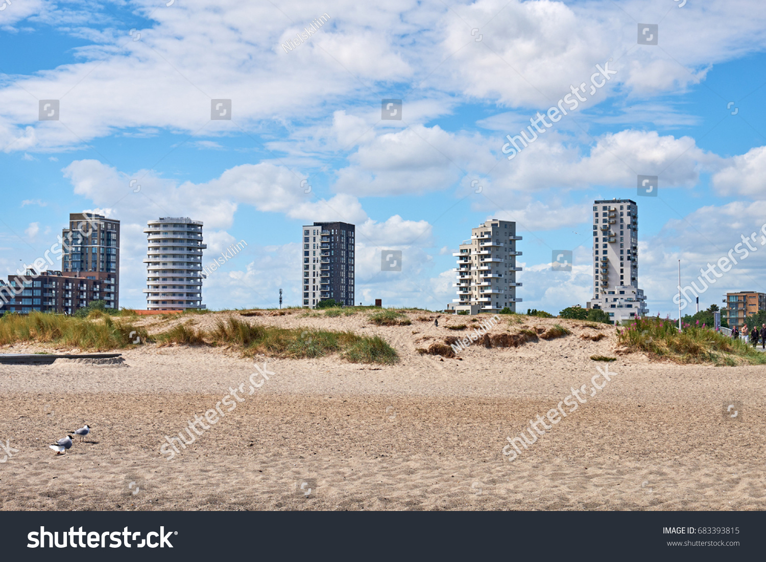 Amager Beach Park copenhagen denmark june 26 2017 modern | royalty-free stock