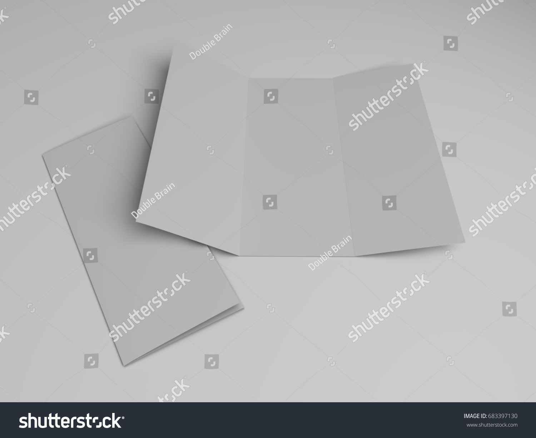 Blank Trifold Brochure Design Template D Stock Illustration - Blank tri fold brochure template