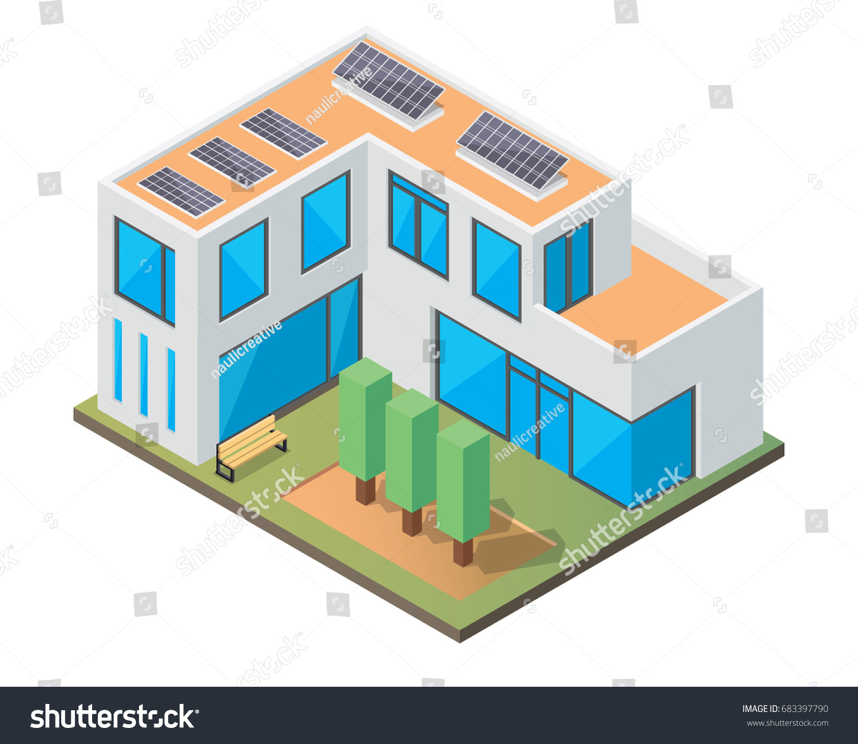 Modern Luxury Isometric Green Eco Friendly Stock Vector (Royalty ...