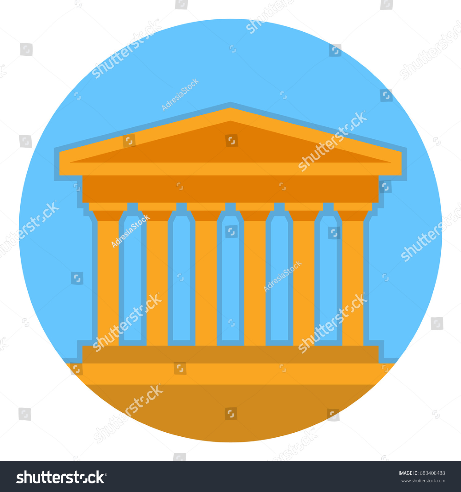 Illustration Symbol Greece Tourist Spot Parthenon Stock Vector 2018