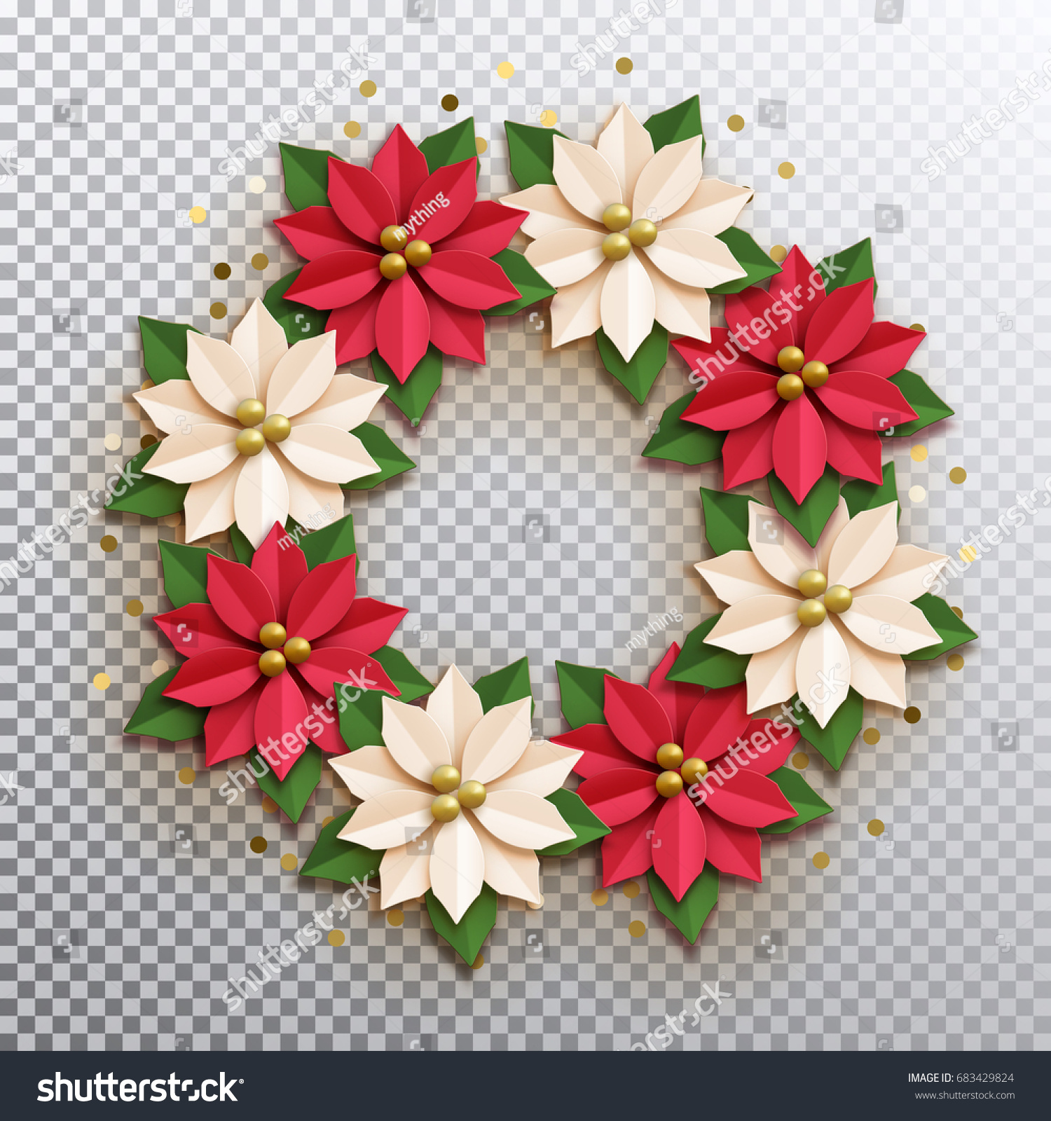 Christmas star paper poinsettia red white stock vector royalty free christmas star paper poinsettia red and white flowers wreath vector illustration icon isolated mightylinksfo