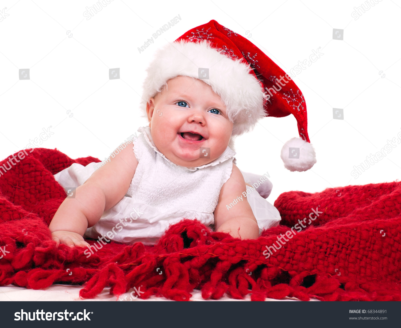 811004e922 Cute Baby Girl Santa Hat Stock Photo (Edit Now) 68344891 - Shutterstock
