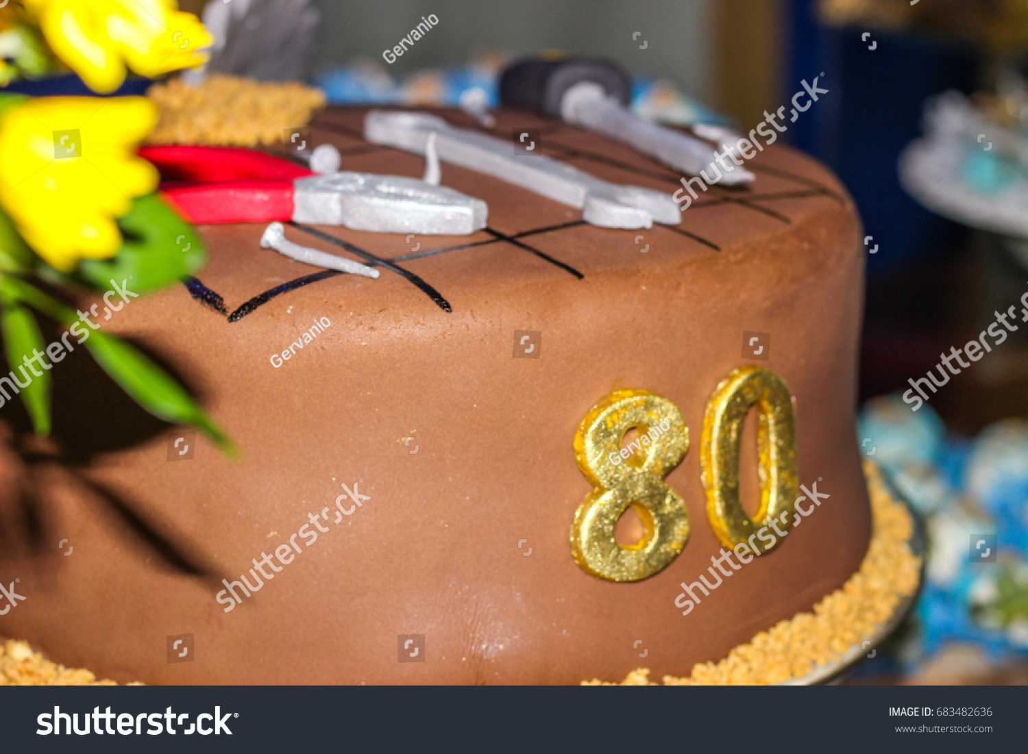 Birthday Cake 80 Years Old Stock Photo Edit Now 683482636