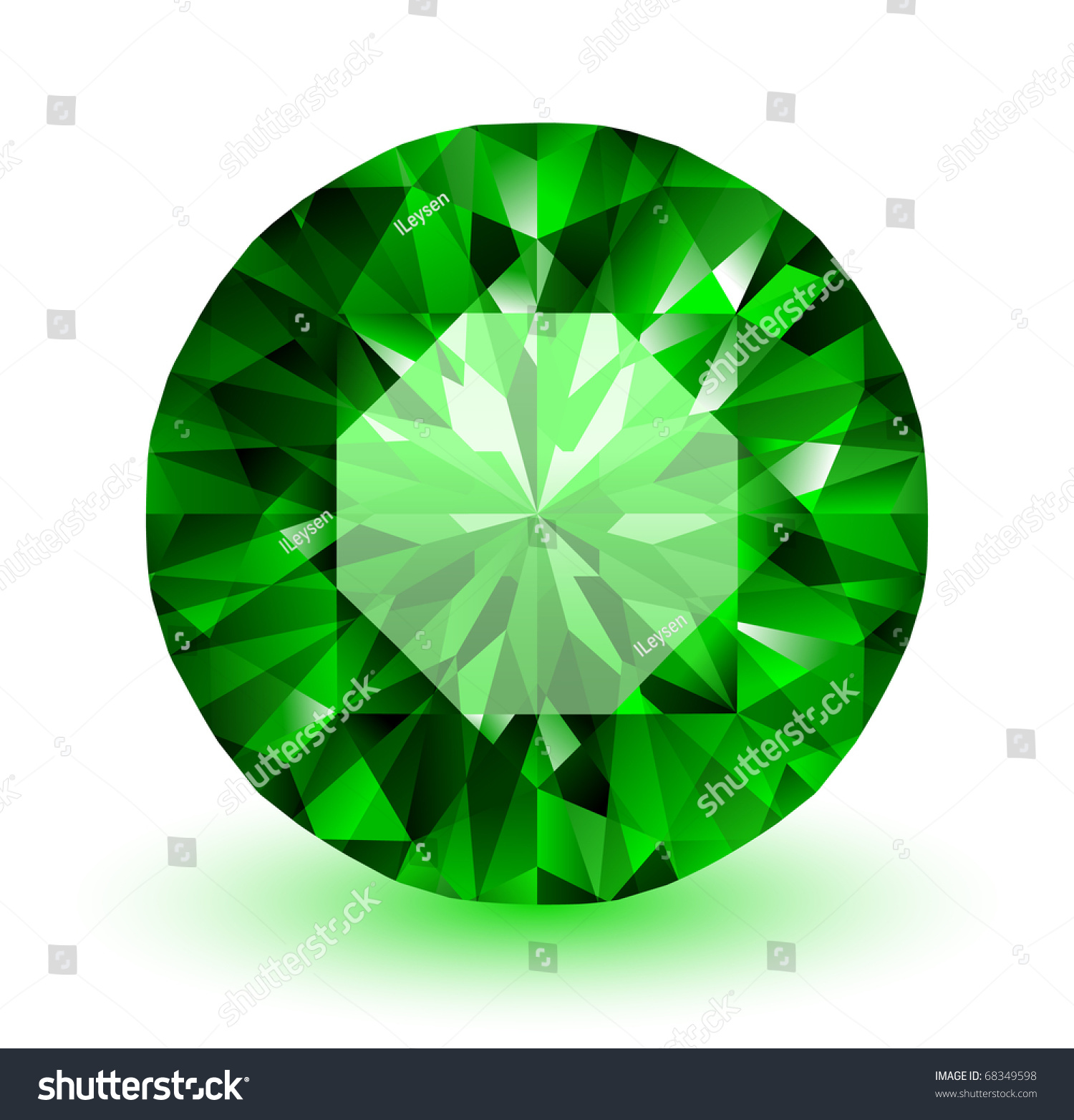 Emerald Vector Gemstone Illustration Stock Vector 68349598 ...