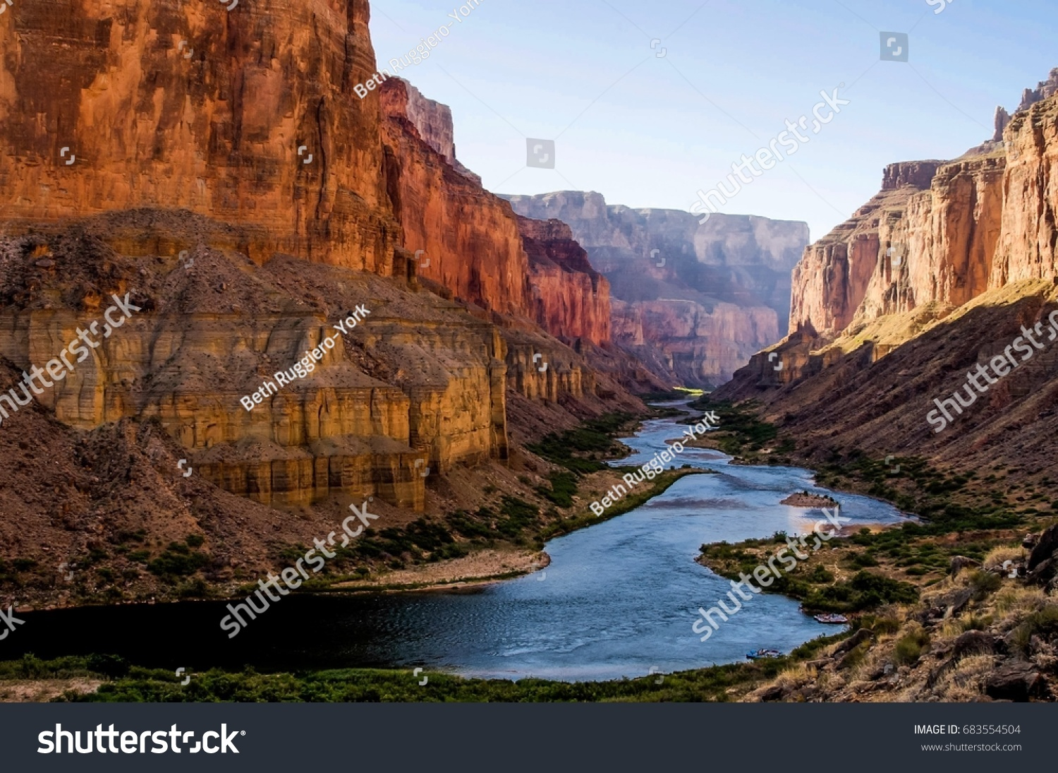 Colorado River from Nankoweap Granaries in Grand Canyon #683554504