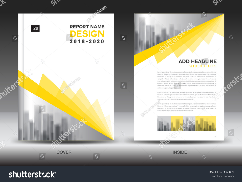 Annual Report Brochure Flyer Template Yellow Stock Vector 683560039 ...