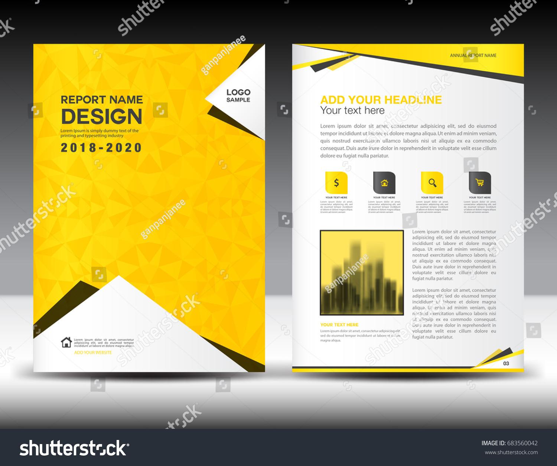 Annual Report Brochure Flyer Template Yellow Vectores En Stock ...