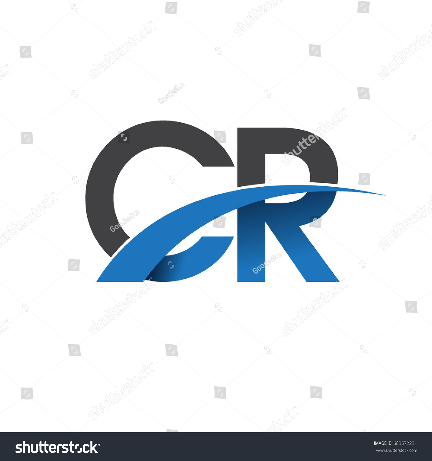 Initial letter cr logotype company name stock vector 683572231 initial letter cr logotype company name colored blue and grey swoosh design vector logo for buycottarizona