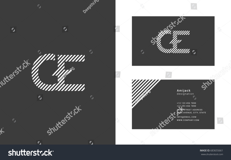 g e line logo joint letter stock vector 683655661 shutterstock
