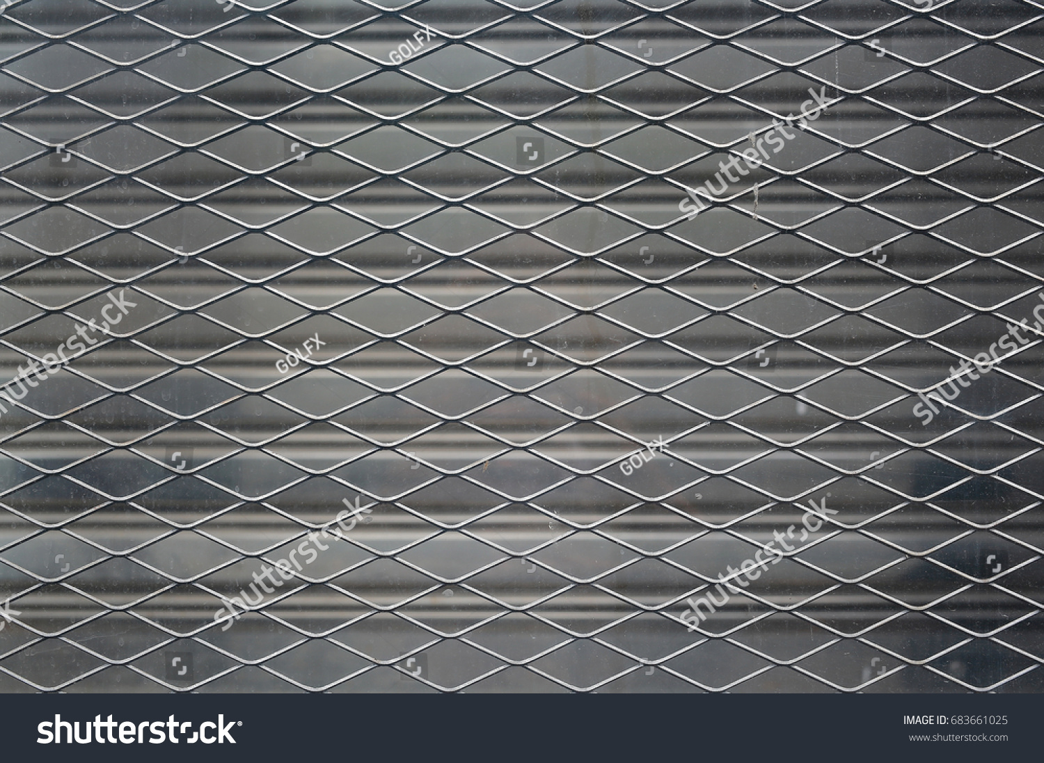 Metal Wire Mesh Fence Against Abandon Stock Photo (Royalty Free ...