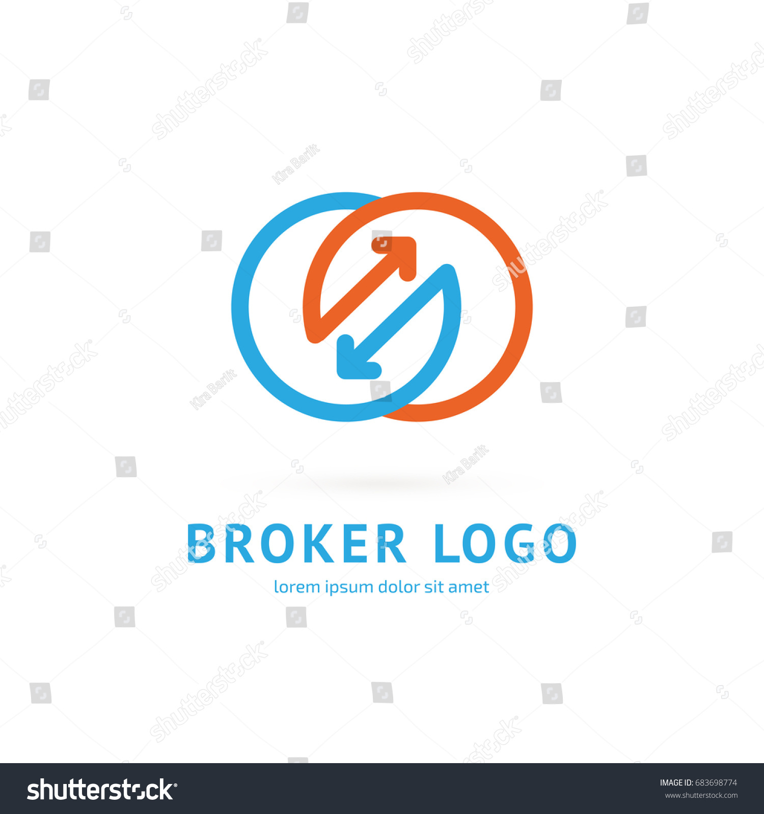 Logo Design Broker Vector Template Illustration Vector de stock ...