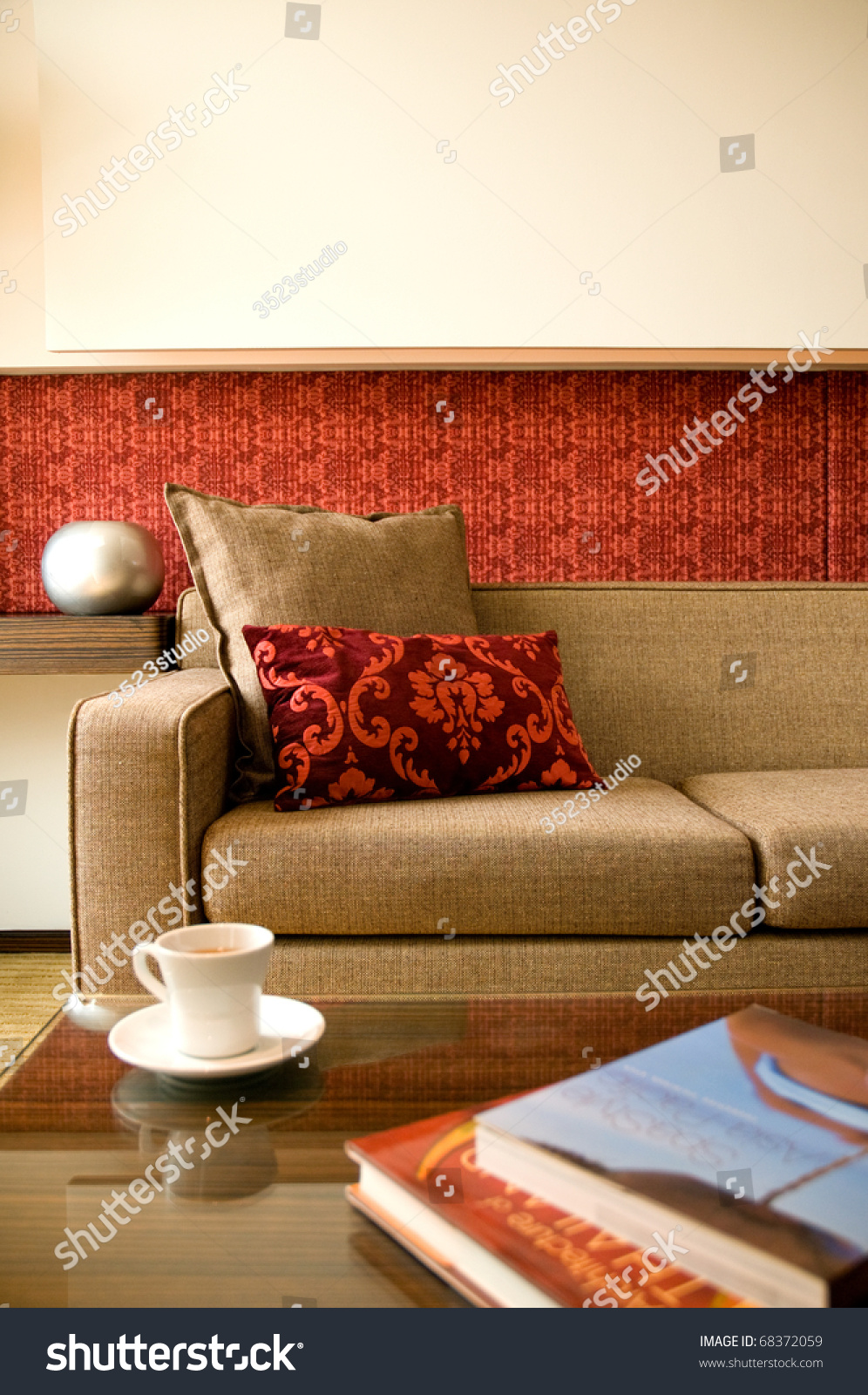 Living room beautiful interior design stock photo 68372059 for Official interior design