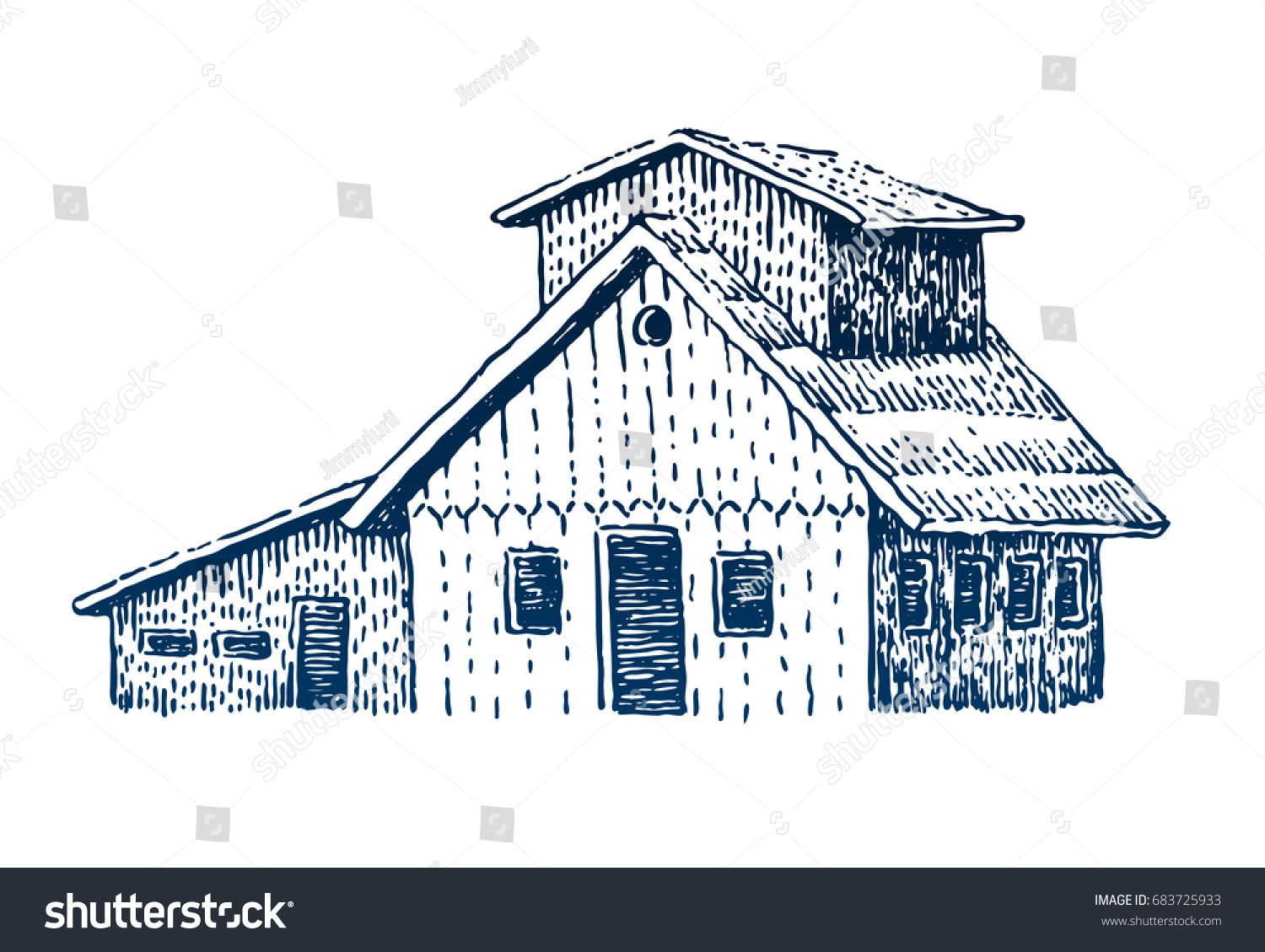 Wooden house camping woodcut travel symbol stock vector 683725933 woodcut travel symbol tourism hand drawn illustration in engraving style biocorpaavc Images