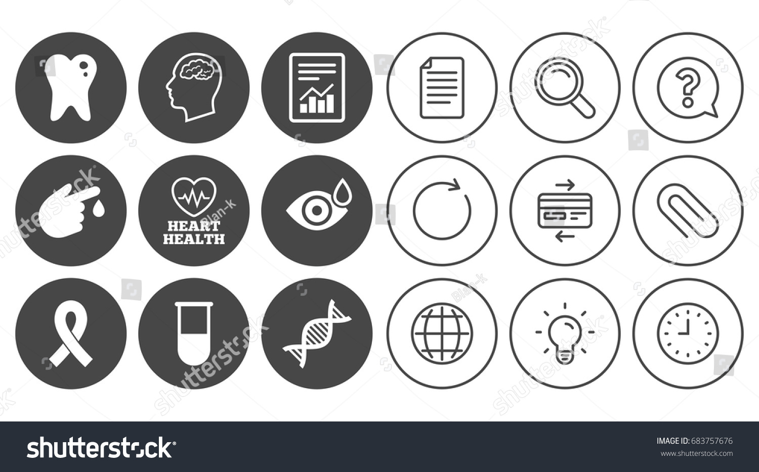 Medicine medical health diagnosis icons blood stock vector medicine medical health and diagnosis icons blood test dna and neurology signs biocorpaavc