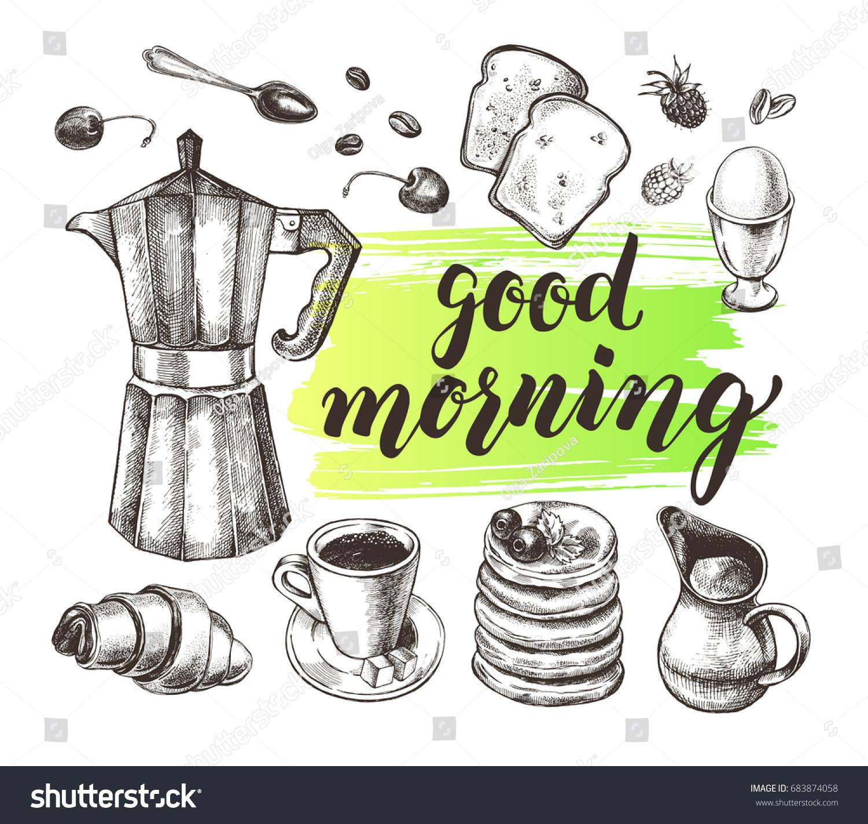 Italian Coffee Maker Vector : Breakfast Set Traditional Italian Coffee Maker Stock Vector 683874058 - Shutterstock