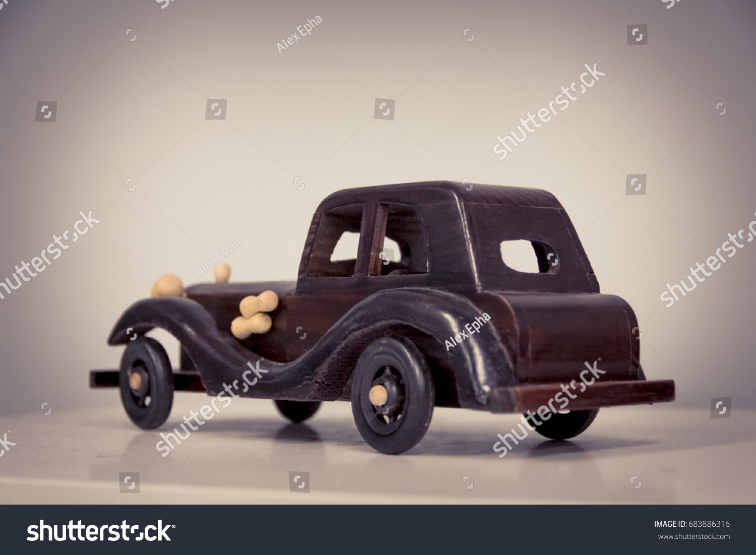 Retro Toy Car Vintage Car Model Stock Photo 683886316 - Shutterstock
