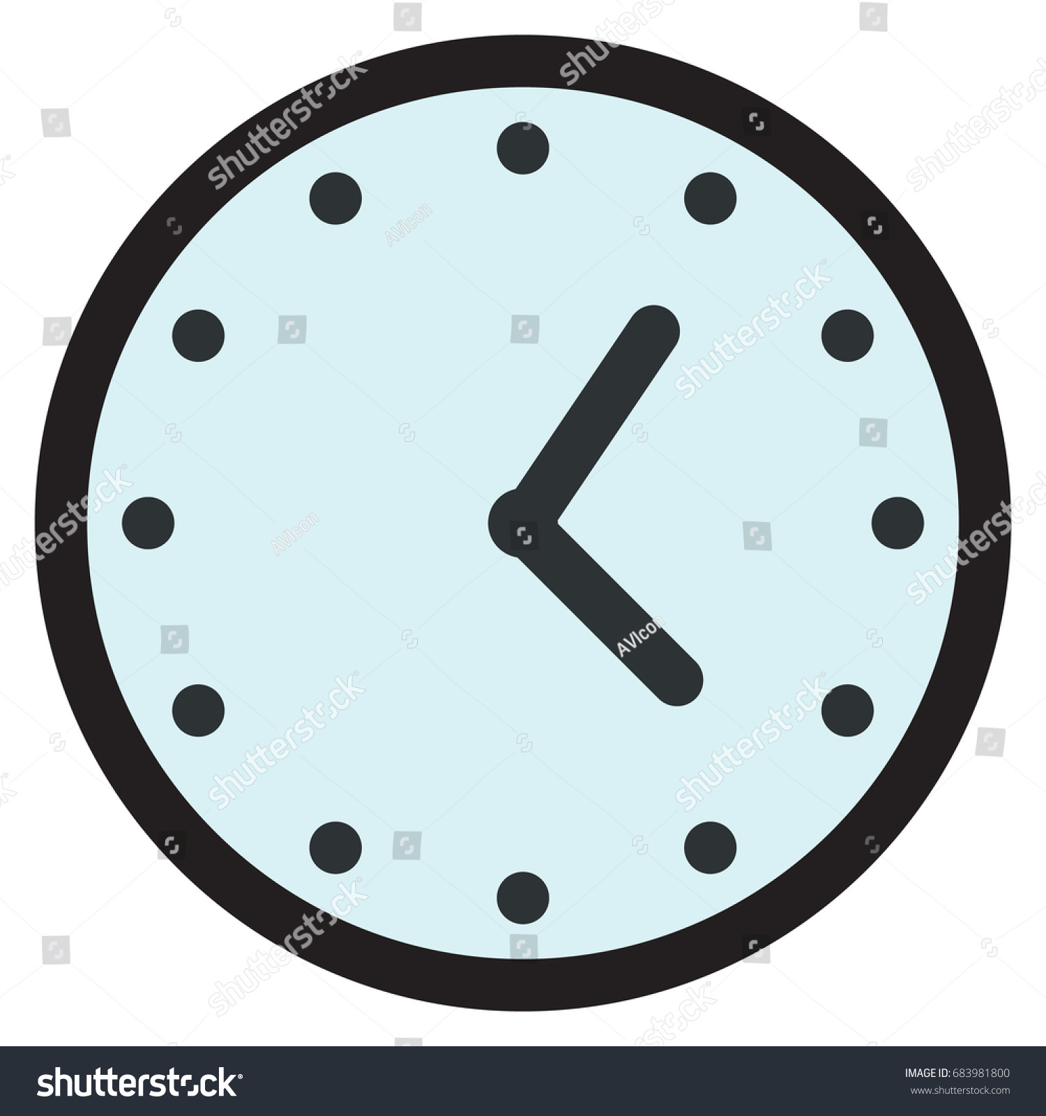 worksheet Analog Clock Face wall round analog clock face watch stock vector 683981800 icon illustration flat style design isolated on