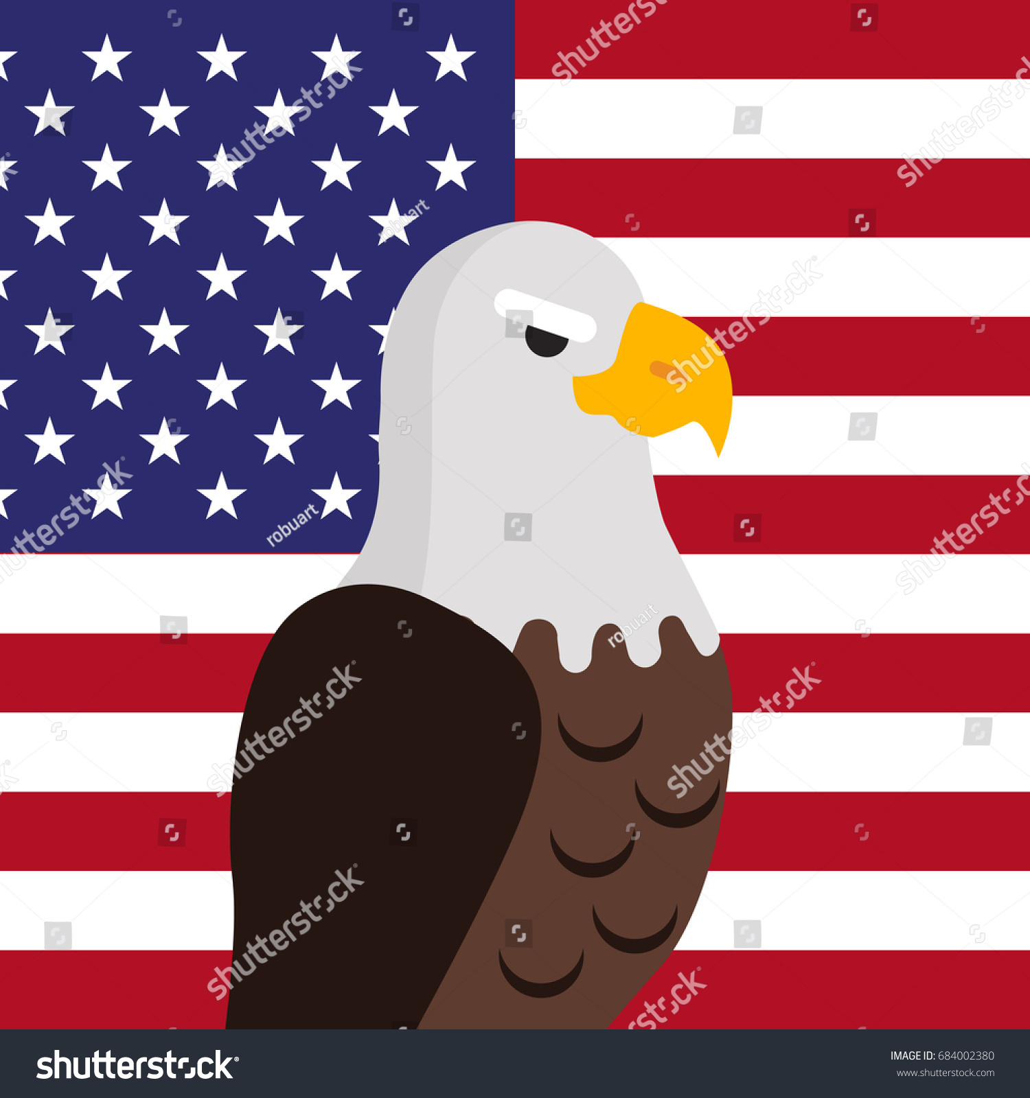 Bald eagle usa national bird symbol stock illustration 684002380 usa national bird symbol and flag for patriotic national symbolic patriotic posters sciox Choice Image