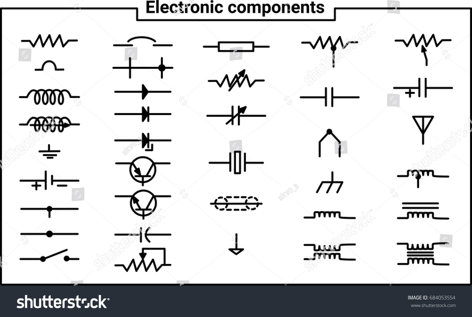 Elements Electrical Engineering Electronic Components Create Stock ...