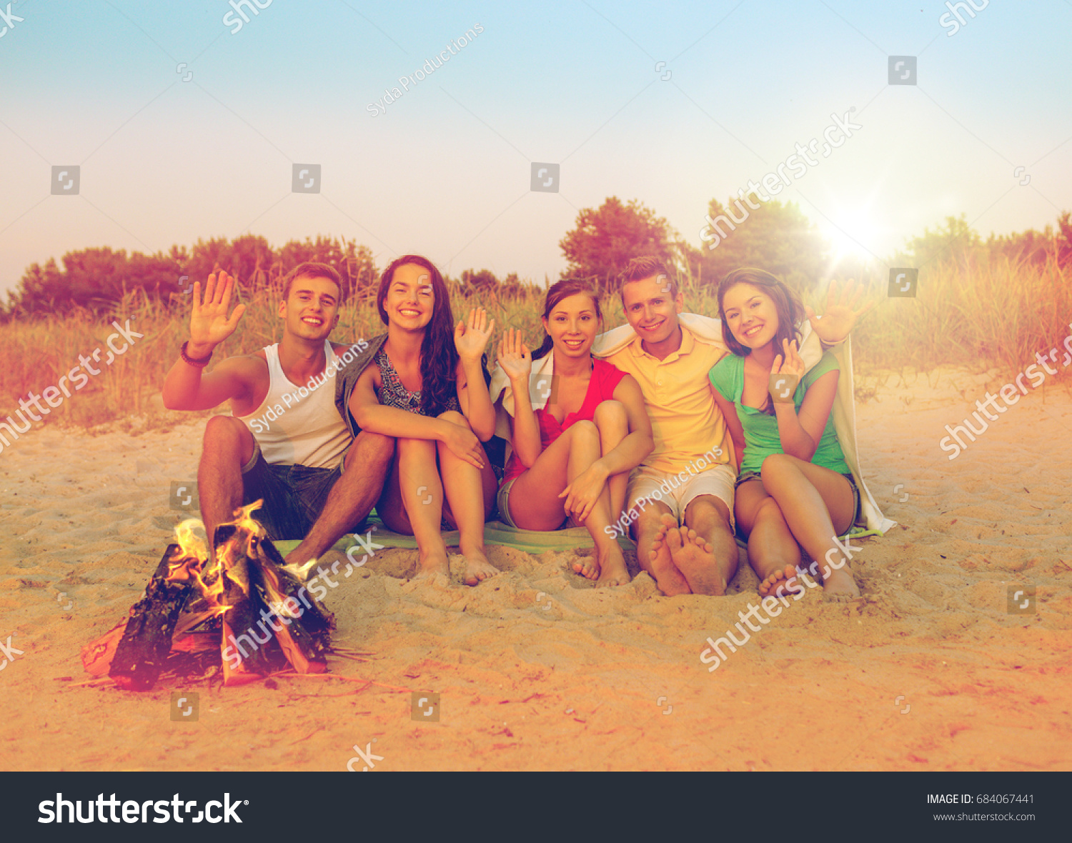Friendship Summer Vacation Holidays Gesture And People Concept