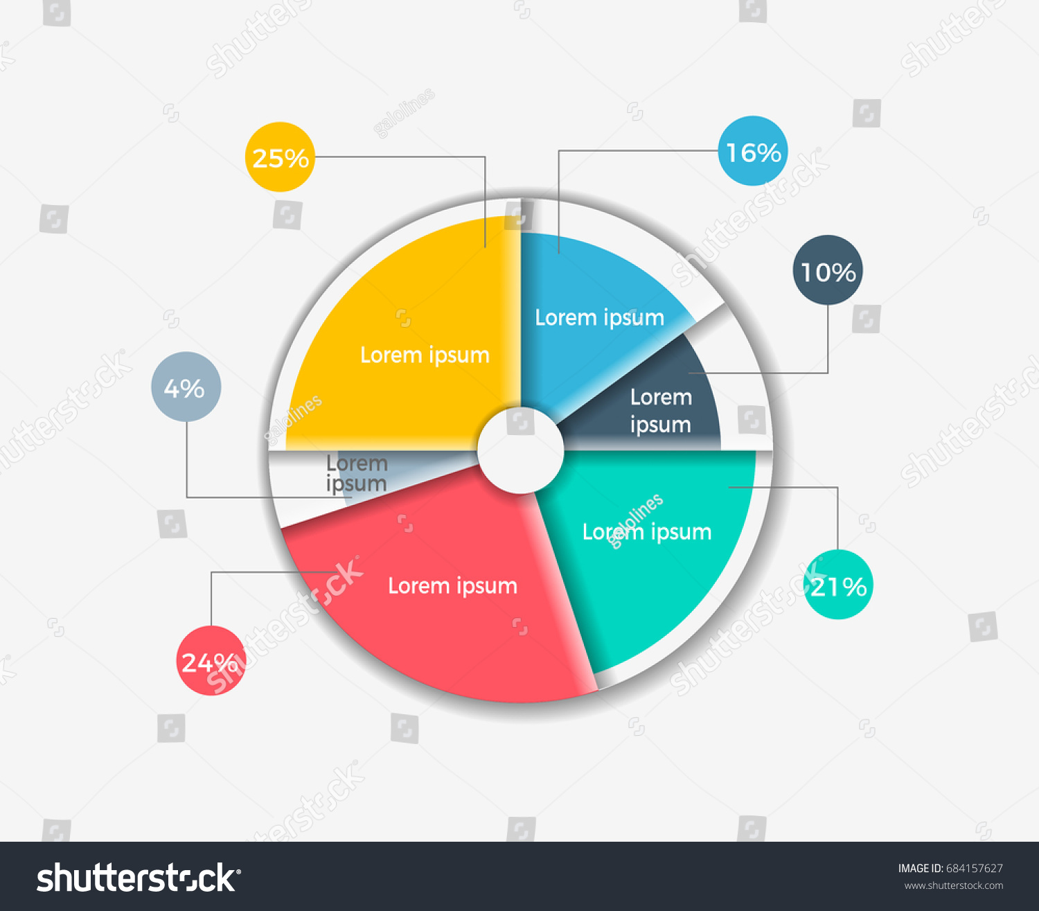 Circle diagram example using infographic template stock vector an example of using infographic template for creating pie charts the template nvjuhfo Images
