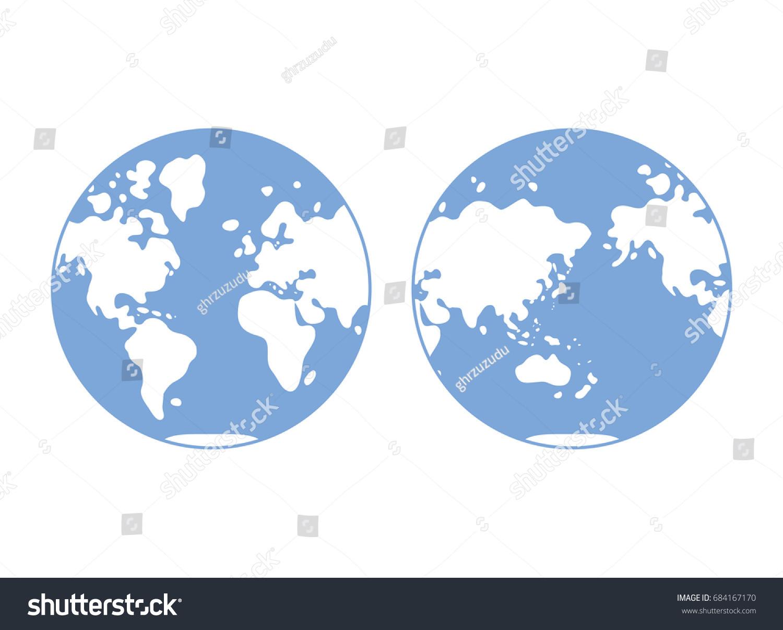 World map western eastern globe hemisphere stock photo photo world map western and eastern globe hemisphere flat vector gumiabroncs Images
