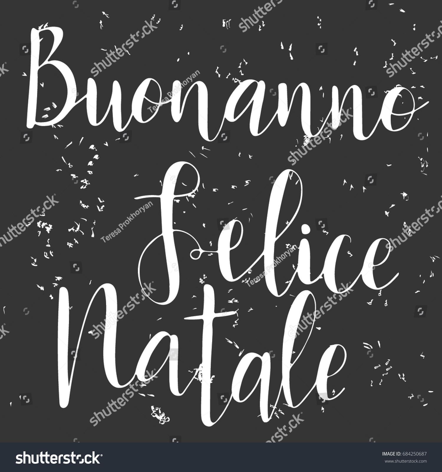 Hand Drawn Words Italian Happy New Stock Vector Royalty Free
