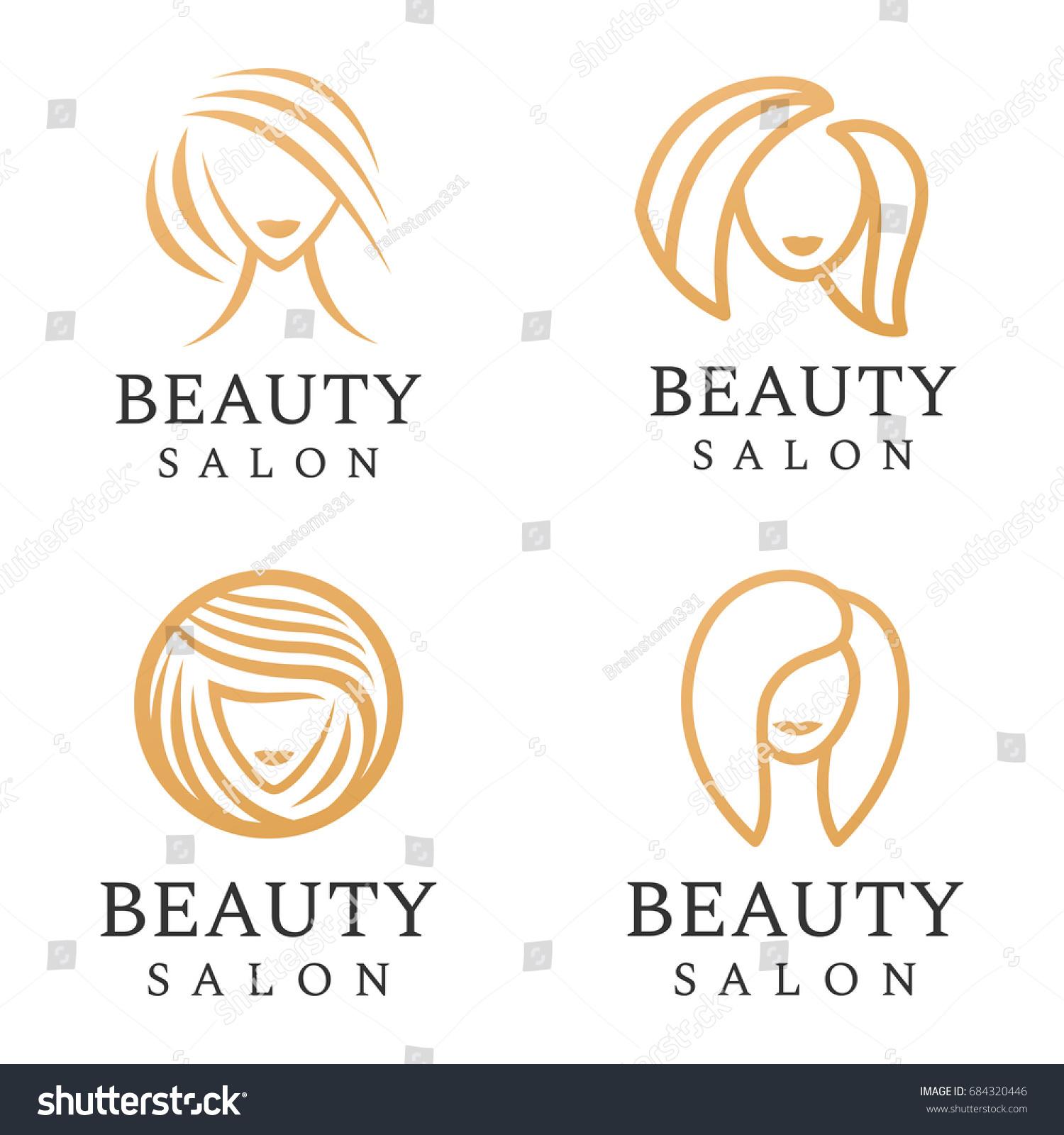 Beauty Salon Logo Set Hair Salon Stock-Vektorgrafik 684320446 ...