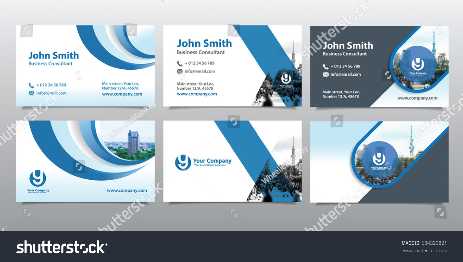 City Background Business Card Design Template Stock Photo (Photo ...