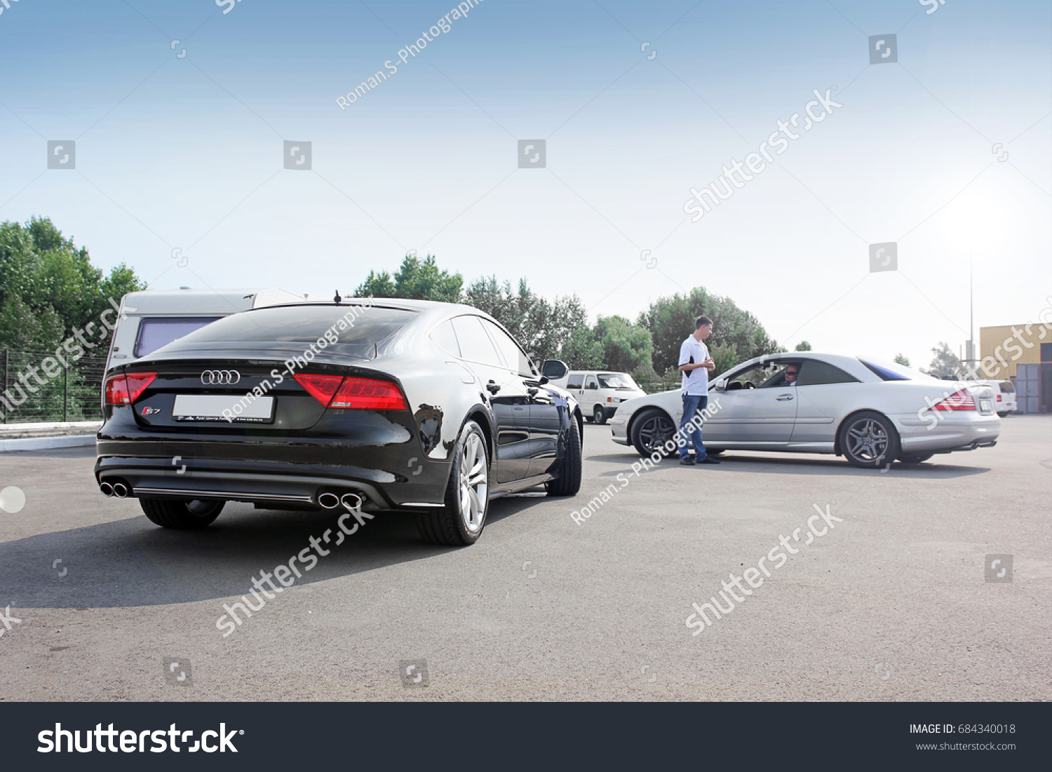 Mercedes CL 55 AMG Audi S 7 Stock Photo (Edit Now)- Shutterstock