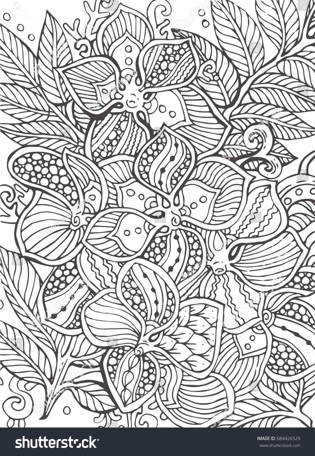 Image Vectorielle De Stock De Fleurs Tropicales Motif